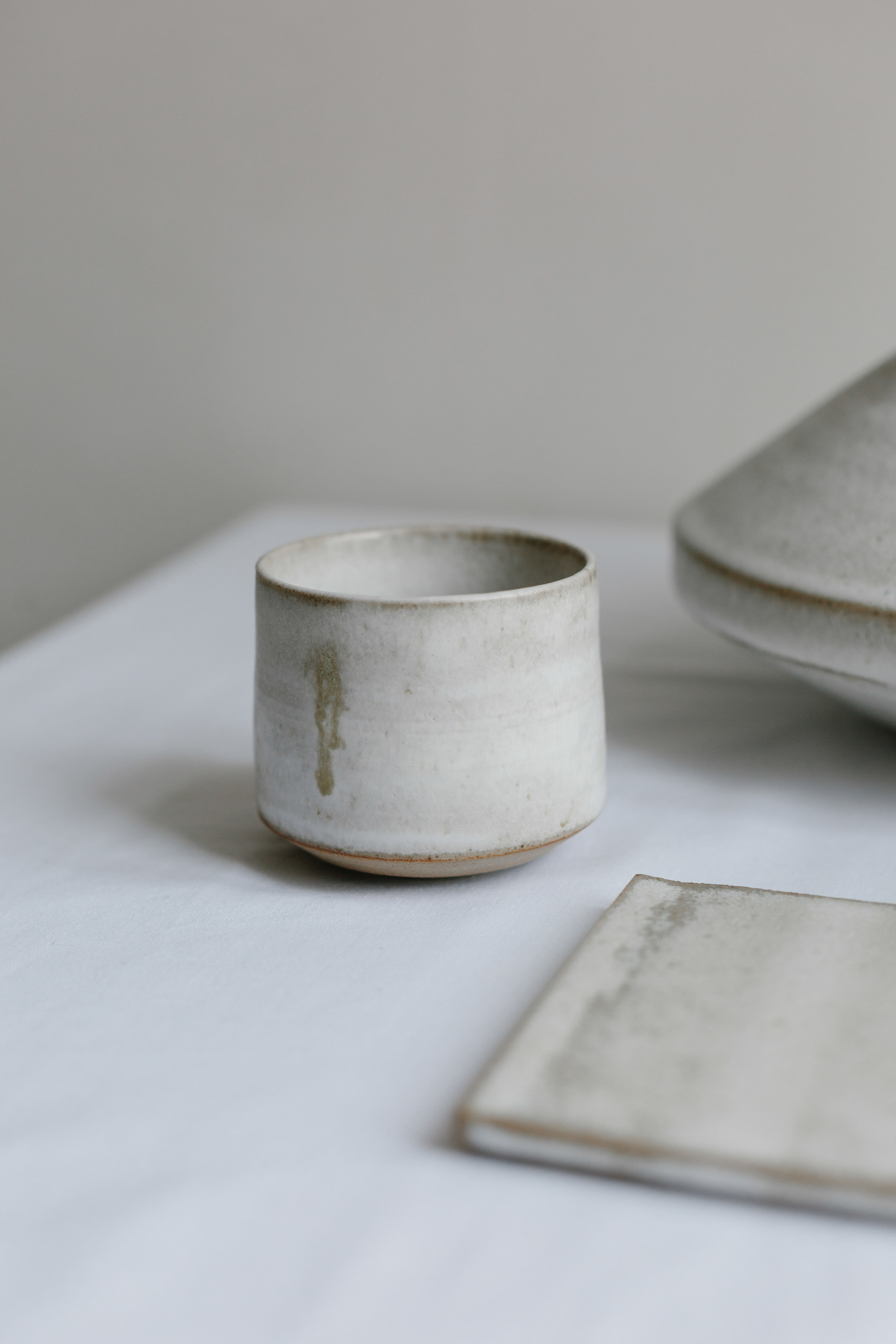 Copy of Kitchen Table - Cup - Oyster Shell Glaze on Stoneware and Porcelain - £55.00 - Maria Bell Photography.jpg