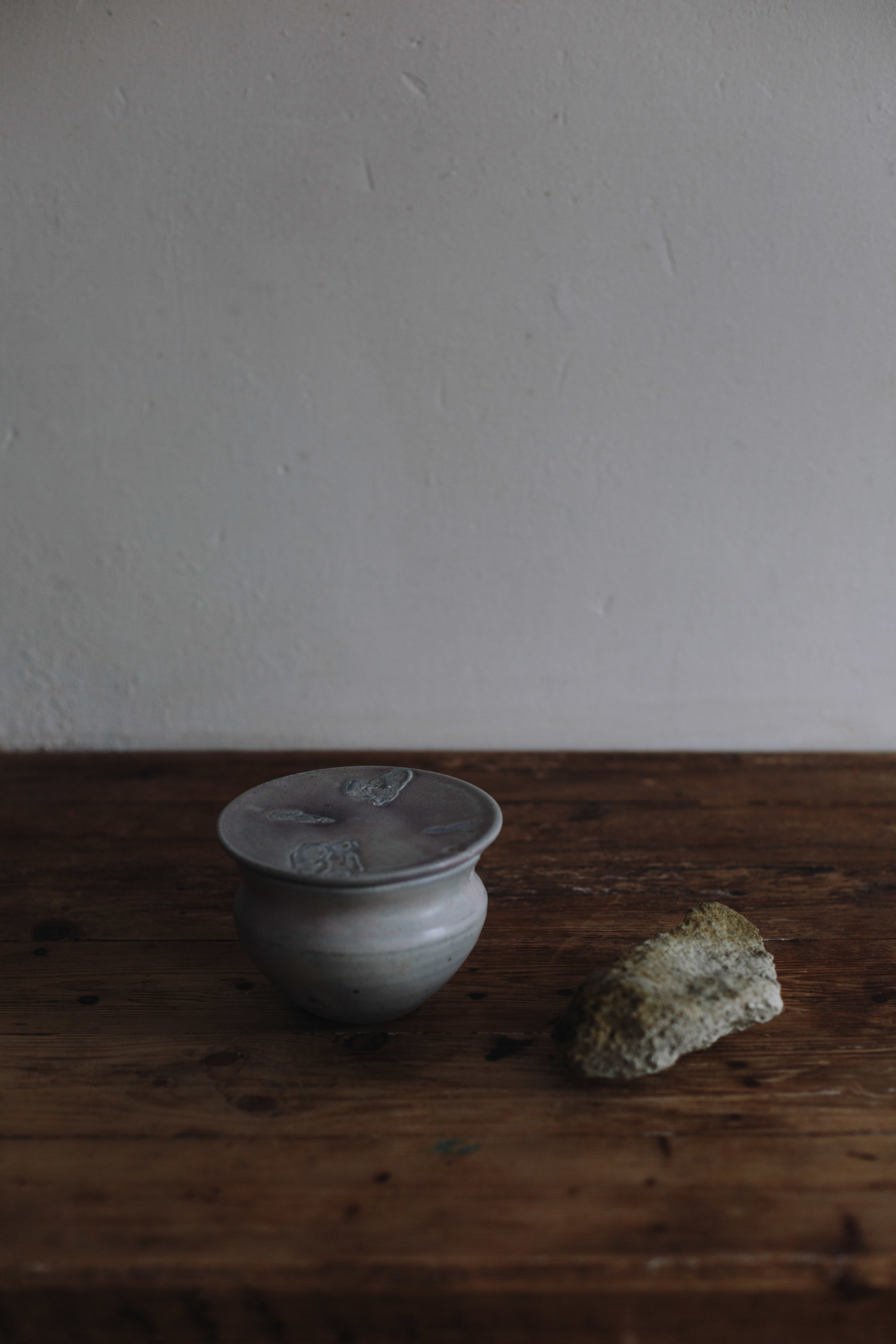 Copy of Sosban _ The Old Butchers - Lidded Pot - Mussel Shell Glaze on Stoneware - £95.00 - Maria Bell Photography.jpg