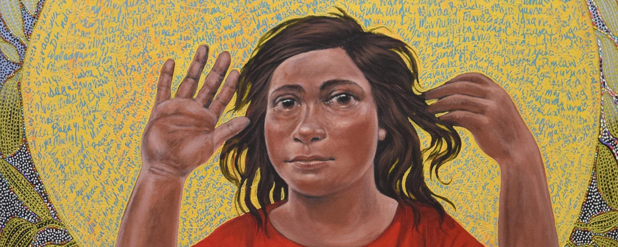 WB_Julie Dowling, Mardubaya Irra (growing language), 2018, acrylic, red ochre, plastic on canvas, 119 x 89 cm.jpg