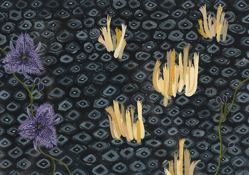 7. Esther McDowell,  Balga Magic,  2018, gouache on paper, 23 x 28 cm $170