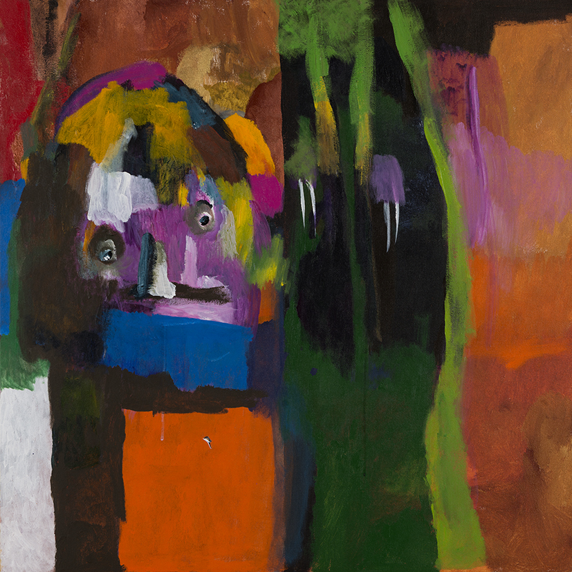 14. Desmond Woodley,  Northern Lady,  2018, acrylic on canvas, 92 x 92 cm $850