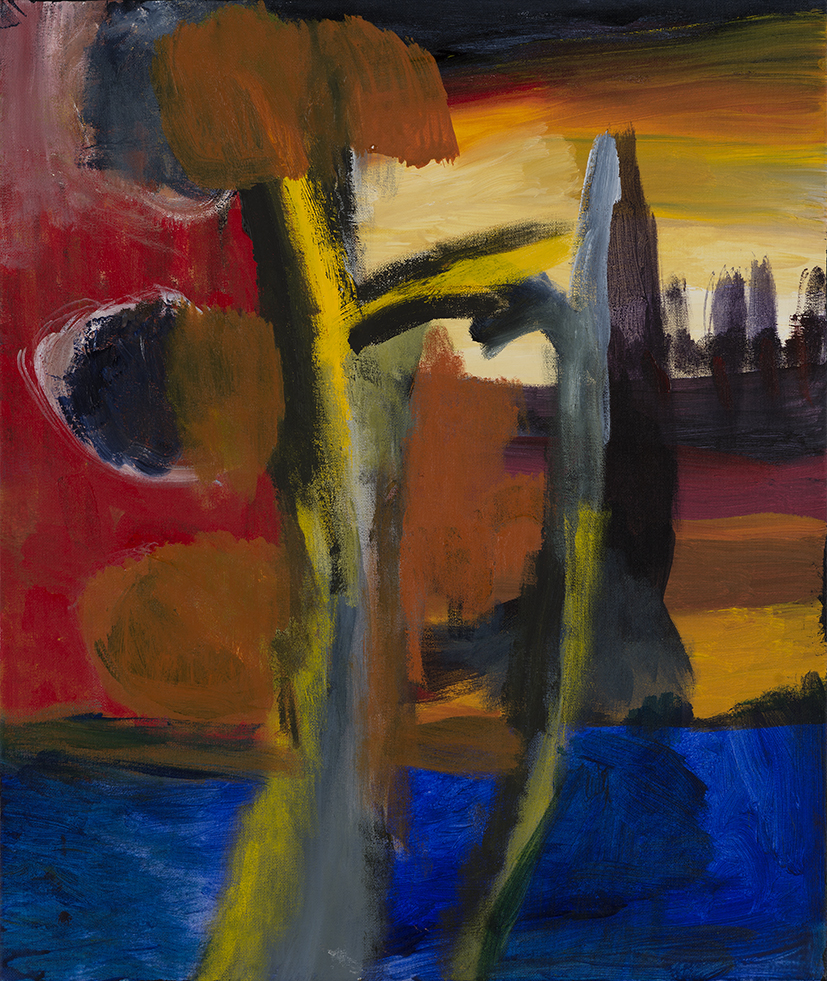 15. Desmond Woodley,  Billabong , 2016, soft pastels, acrylic on canvas, 60 x 57 cm $300