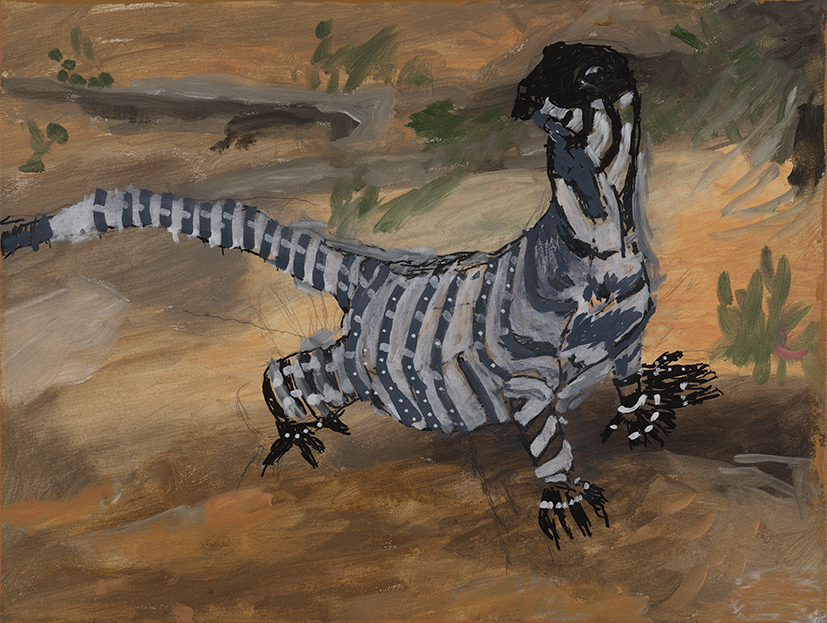 19. Lewis Nannup,  Bungarra,  2018, acrylic on canvas, 46 x 61 cm $550