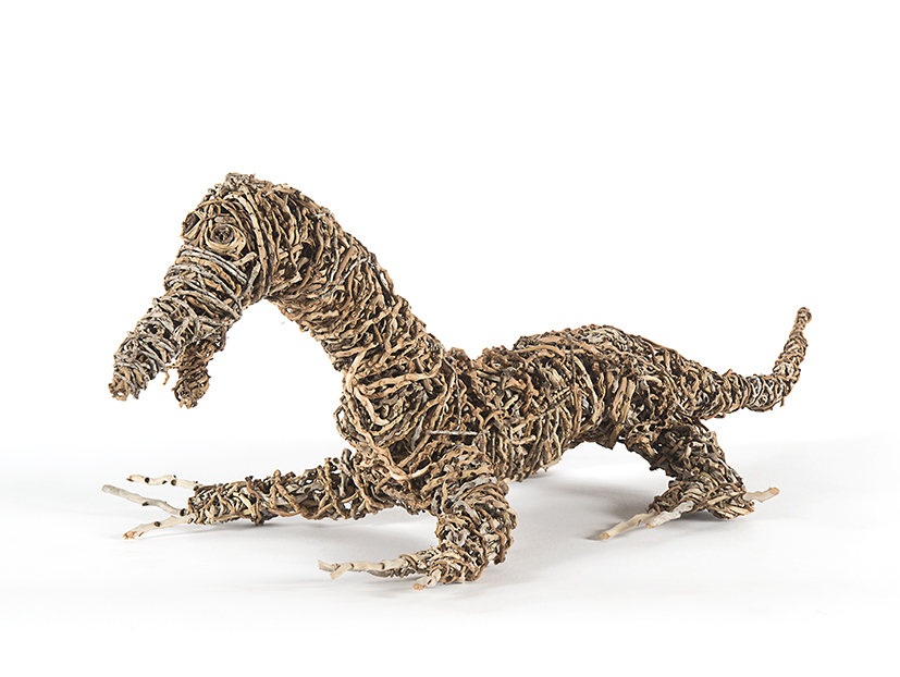 20. Janine McAulley Bott,  Bungarra , 2018, bush weave, 24 x 90 x 37 cm $1,800