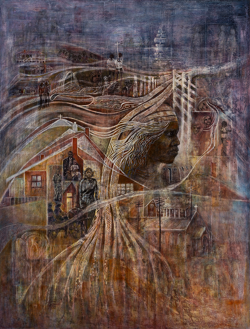 25. Norma MacDonald,  A Sense of History,  2017, oil on canvas, 122 x 94 cm $2,200