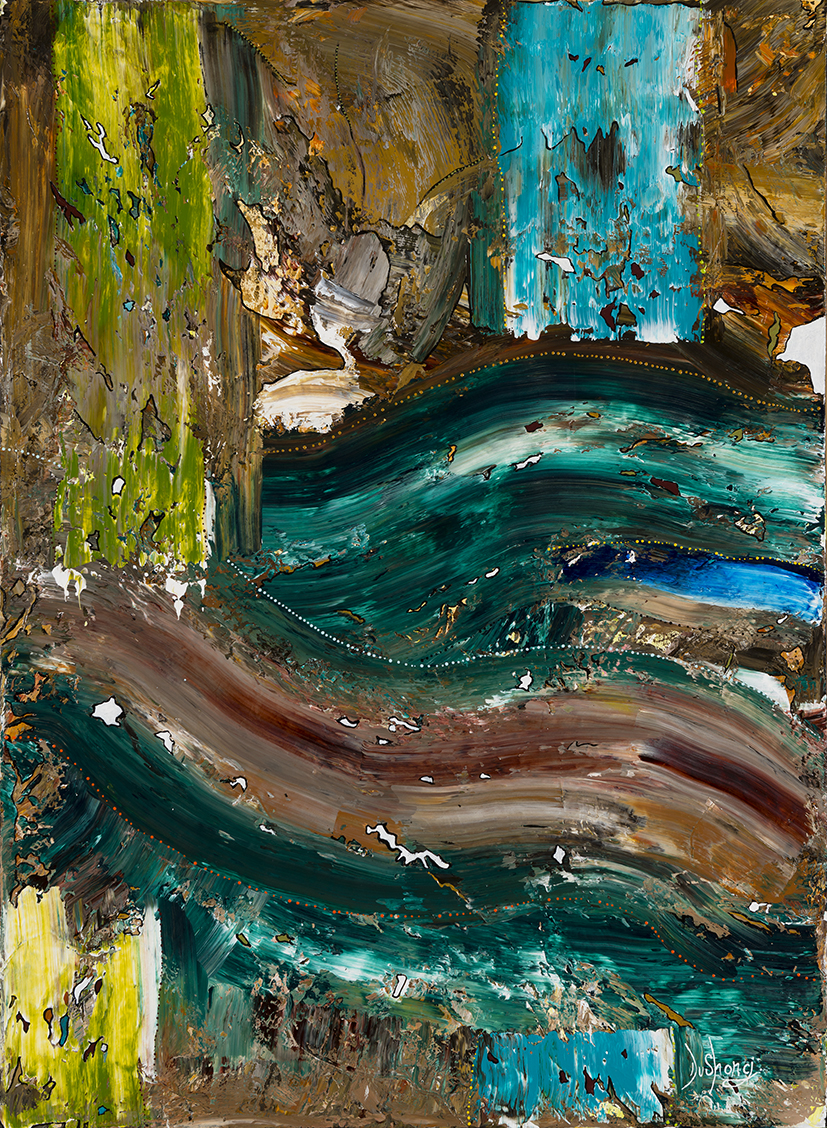 30. Rohin Kickett,  Ballardong Boodja , 2018, acrylic on linen, 120 x 90 cm $1,800