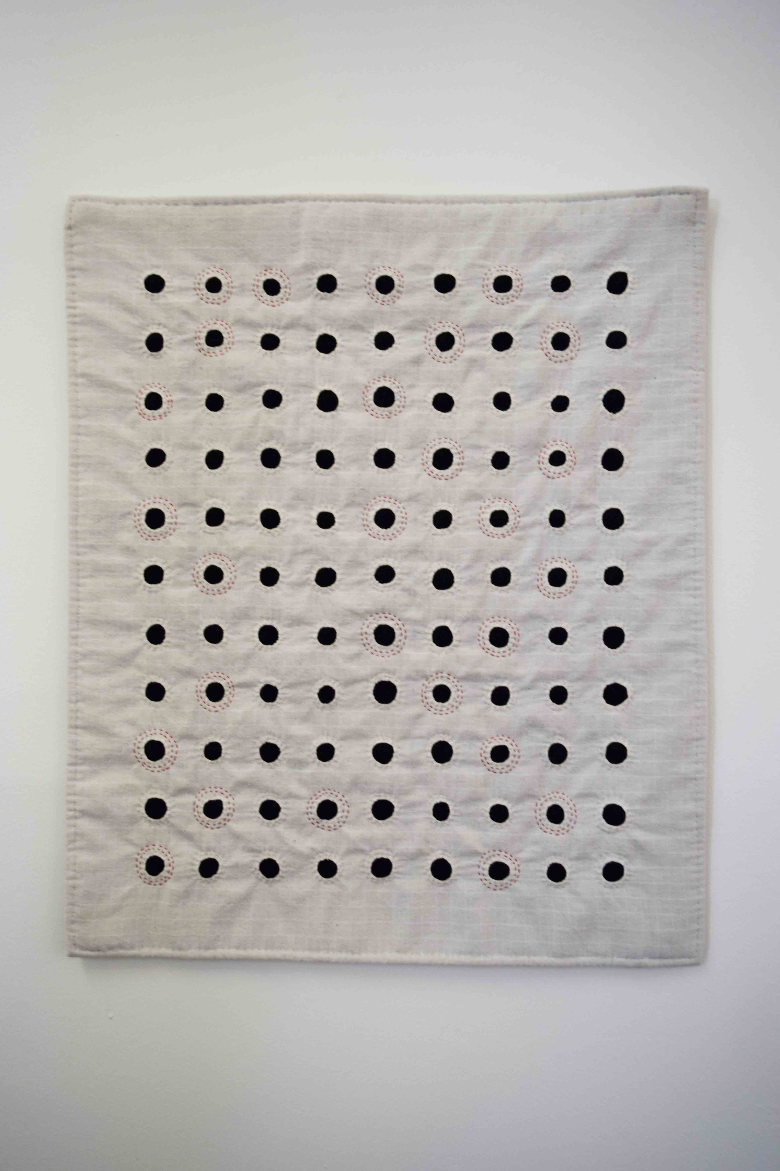 27. Anne Williams,  Primed,  2019, hand stitched cotton and wool, reverse applique, 66 x 54 cm $400