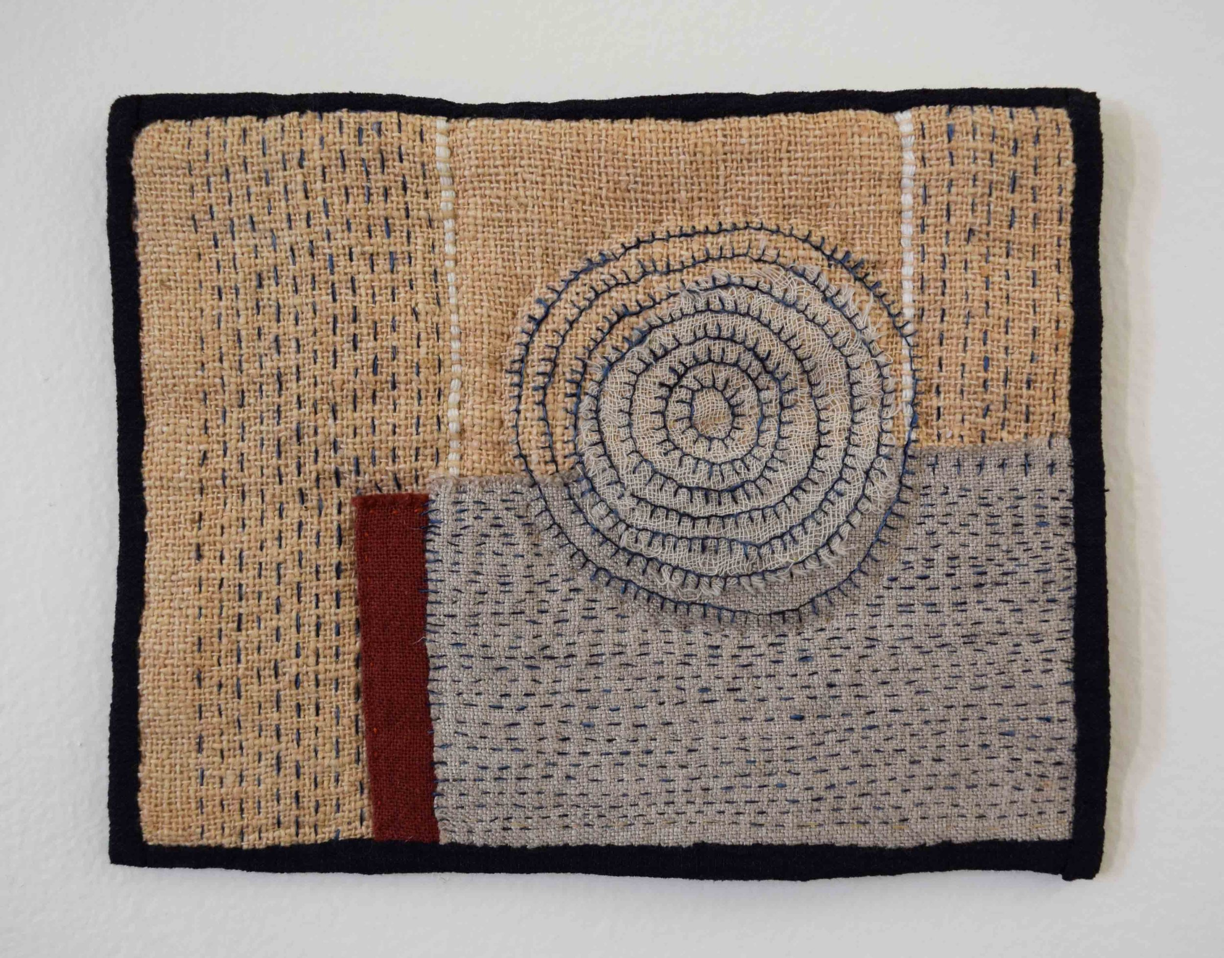 31. Anne Williams,  Untitled,  2018, hand stitched cotton, linen and silk, 15 x 19 cm $125