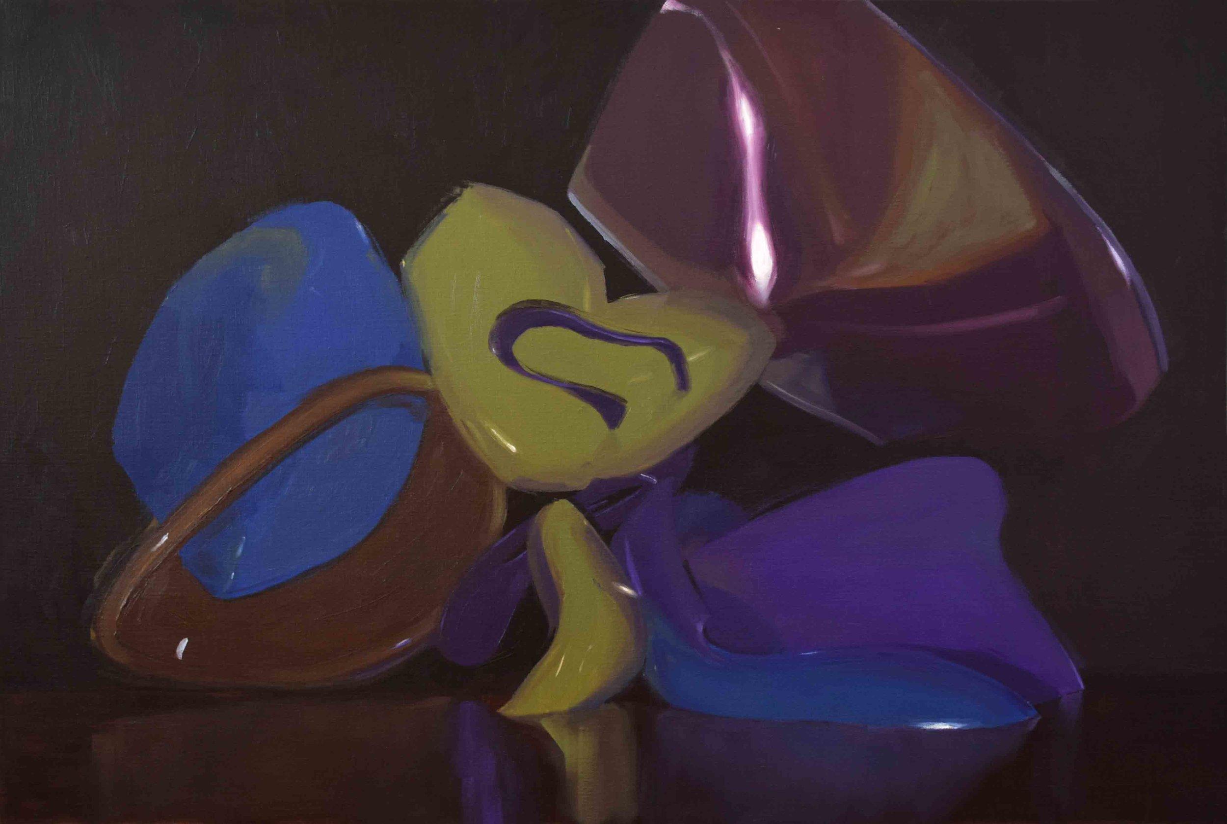 5. Ian Williams,  Low Key,  2019, oil on linen, 93 x 140 cm $2,350