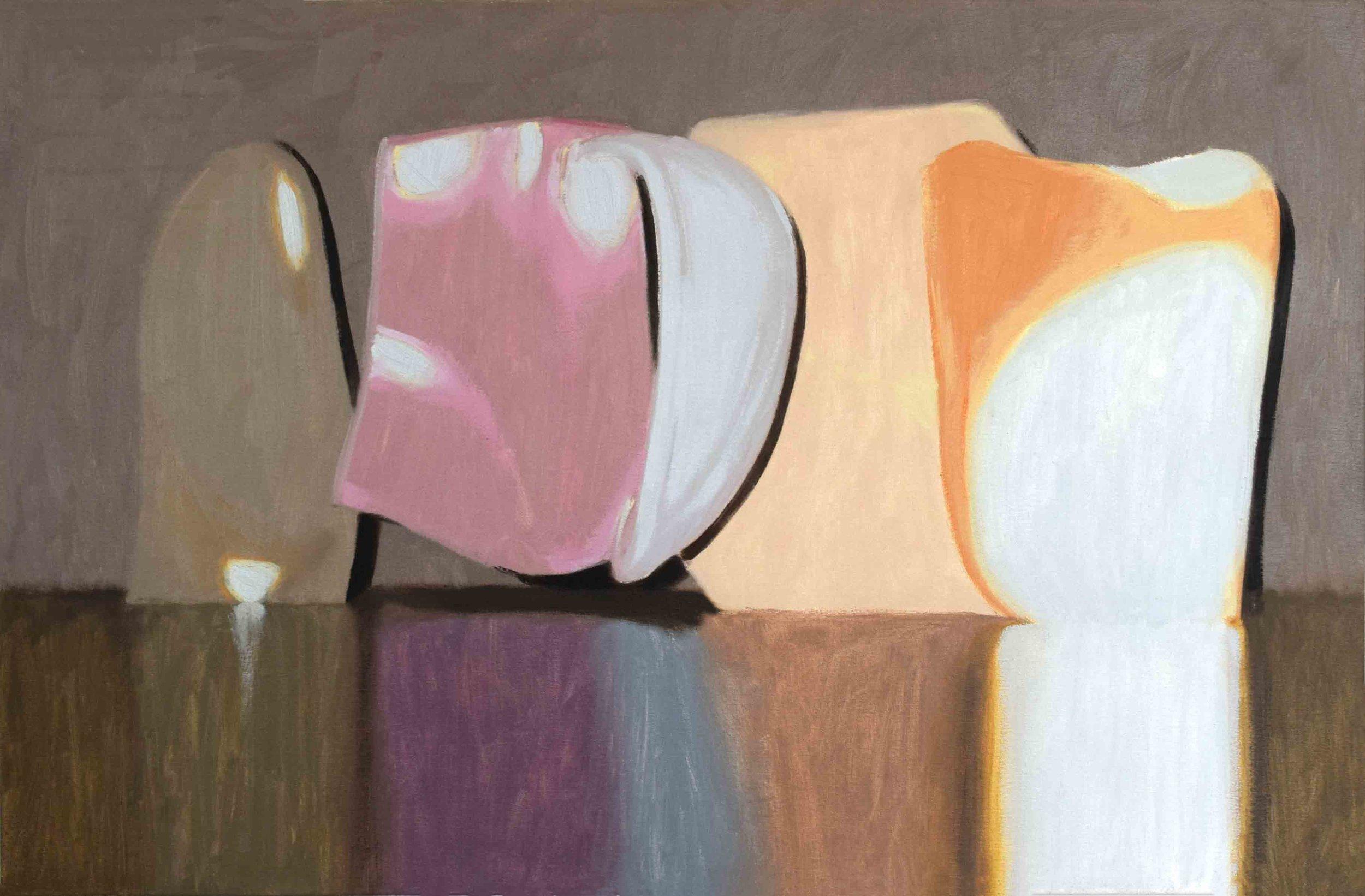 10. Ian Williams,  Mumbo Jumbo,  2019, oil on canvas, 65 x 99 cm $1,450
