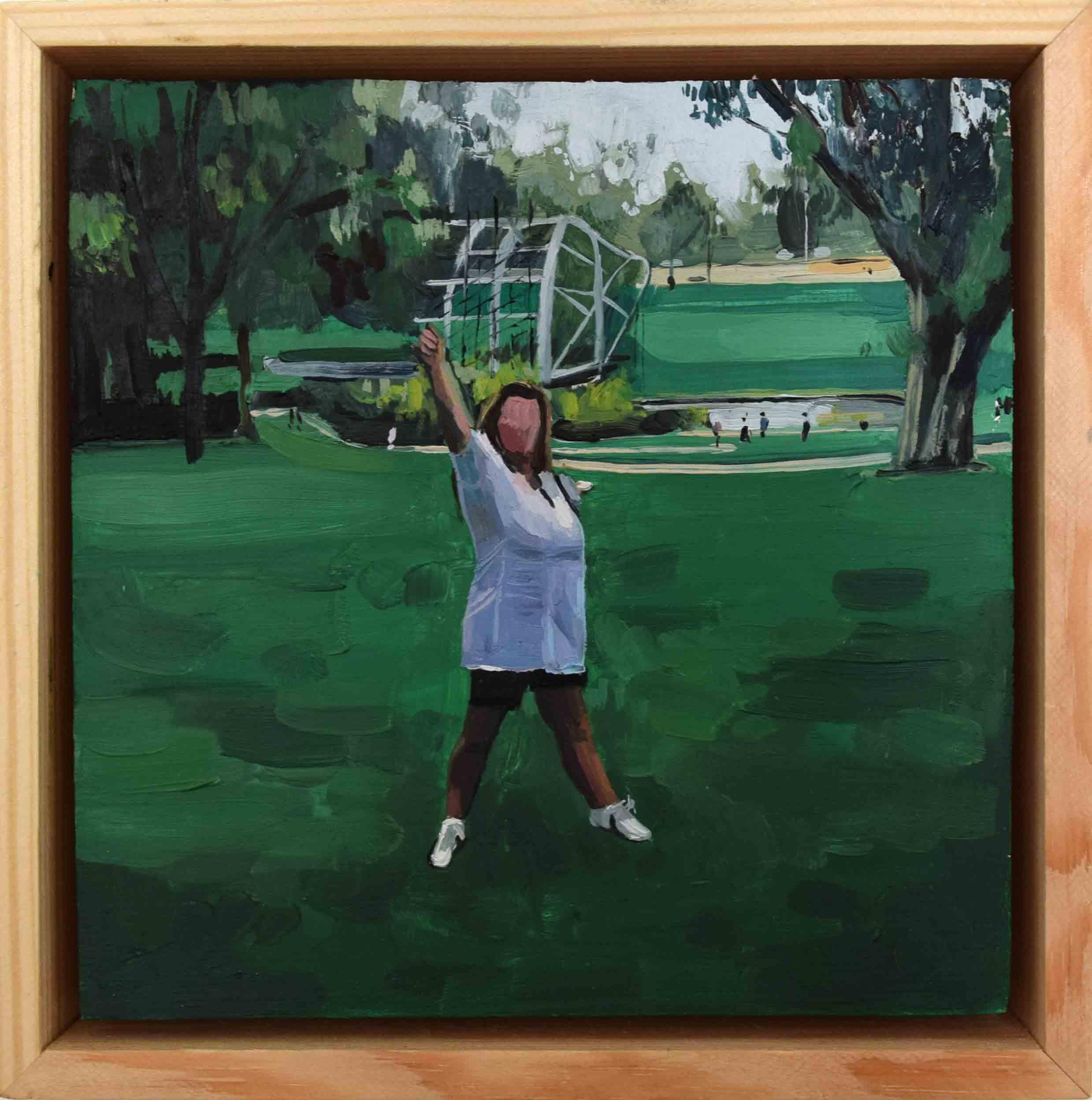 13. Ellen Norrish,  @pantenu7727 Come stiamo bene!!!! , 2019, oil on board, 15 x 15 cm $260