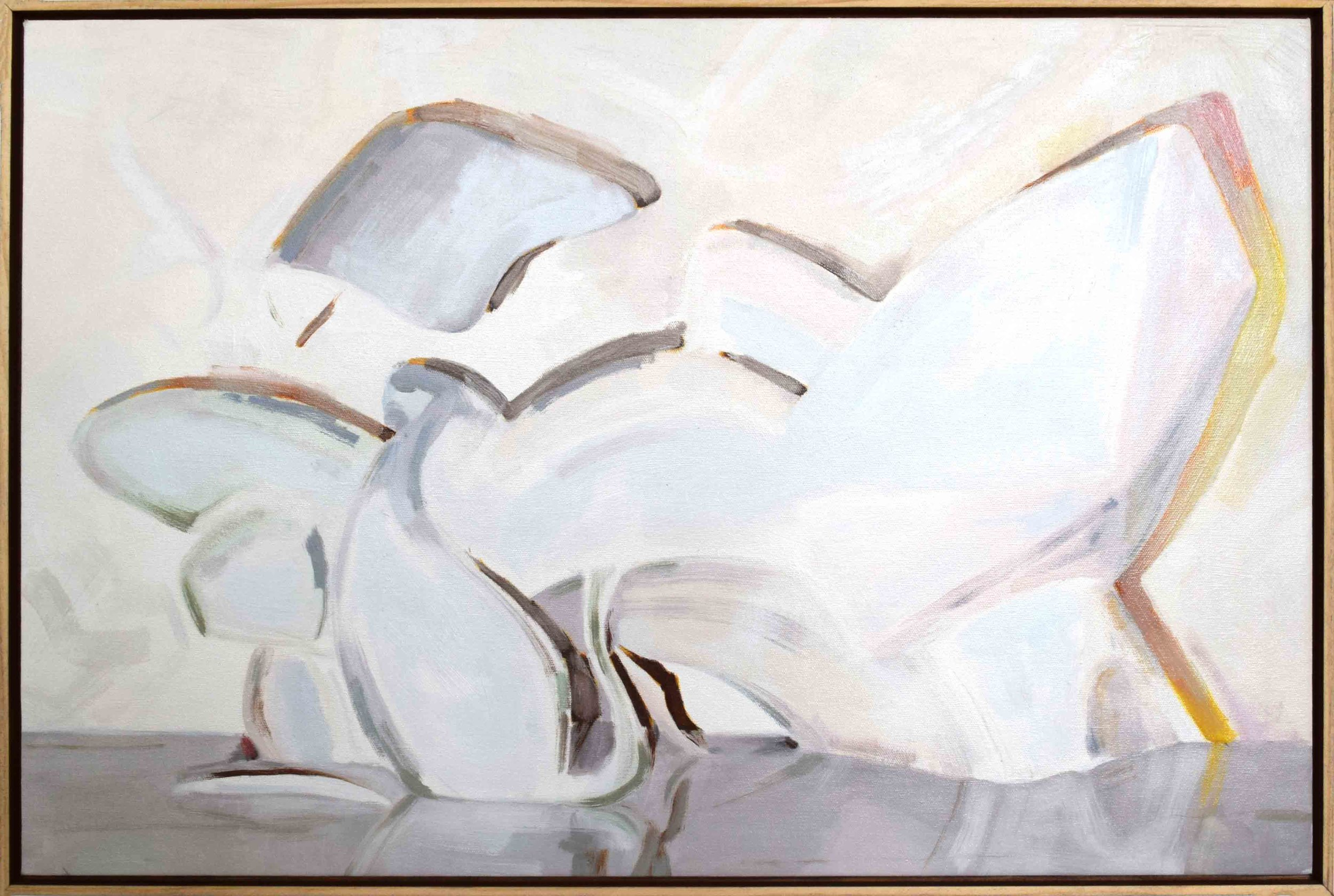 12. Ian Williams,  Illumine , 2018, oil on canvas, 50 x 76 cm $1,250