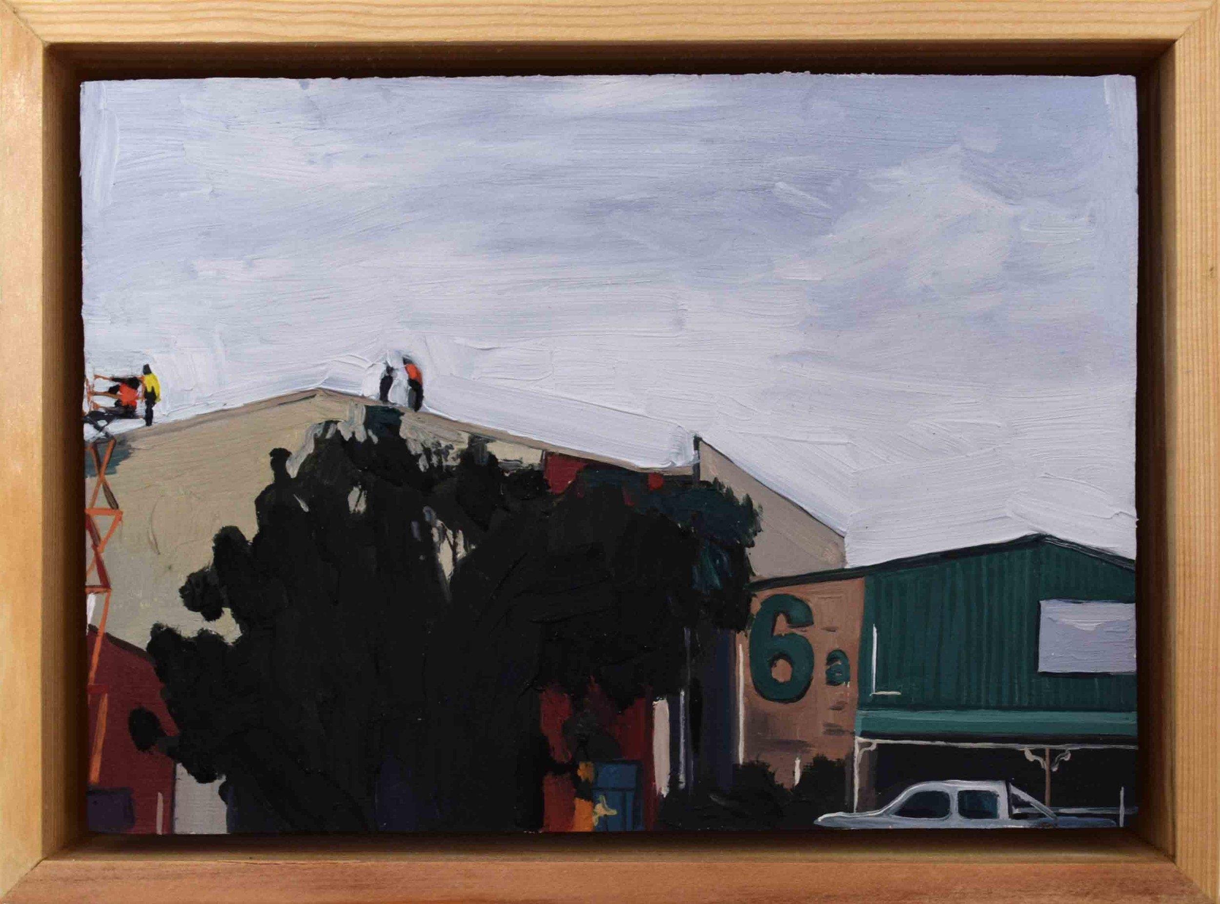 14. Ellen Norrish,  @lowmions ... , 2019, oil on board, 13 x 17 cm $260