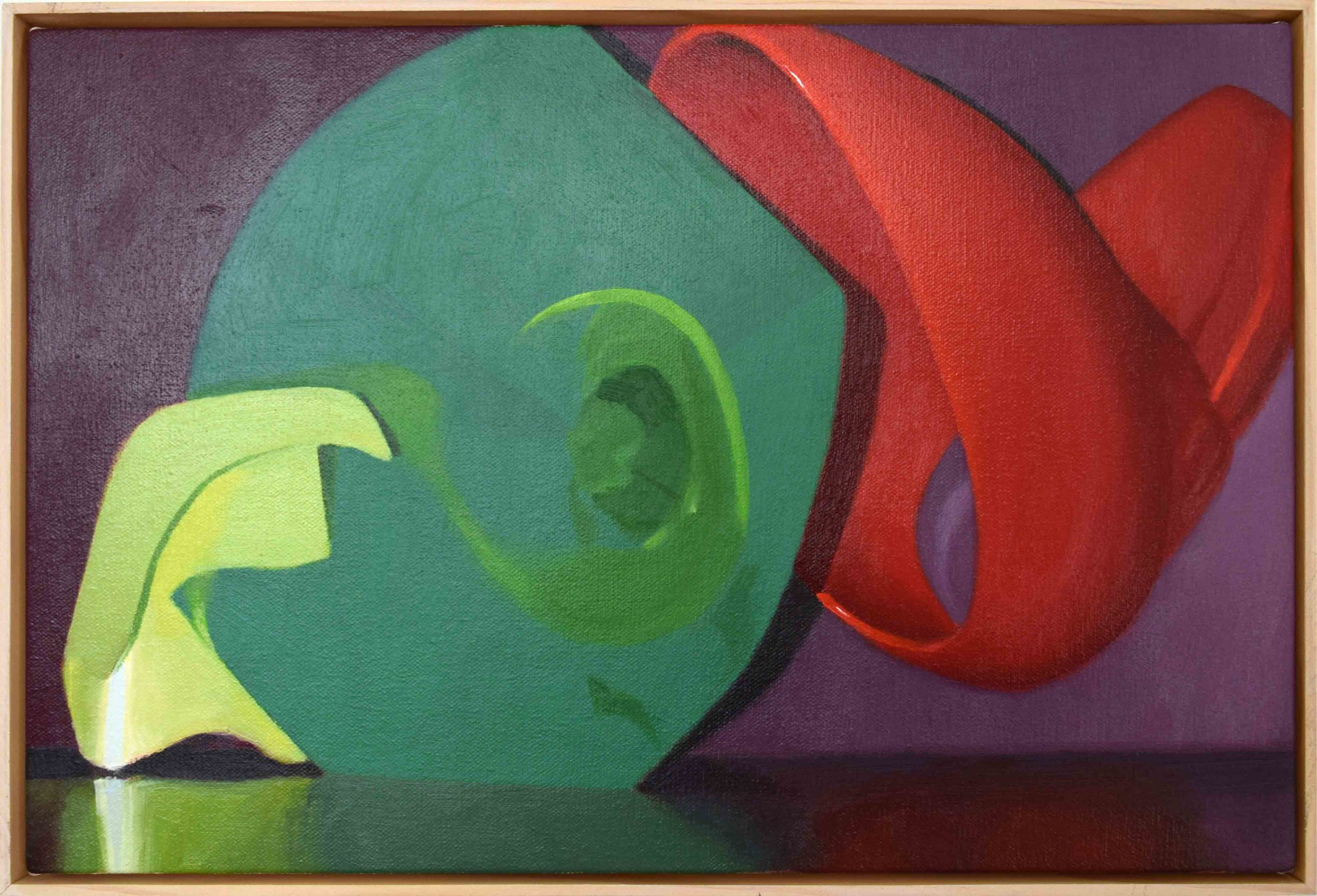 15. Ian Williams,  Echoes , 2018, oil on canvas, 30 x 45 cm $750