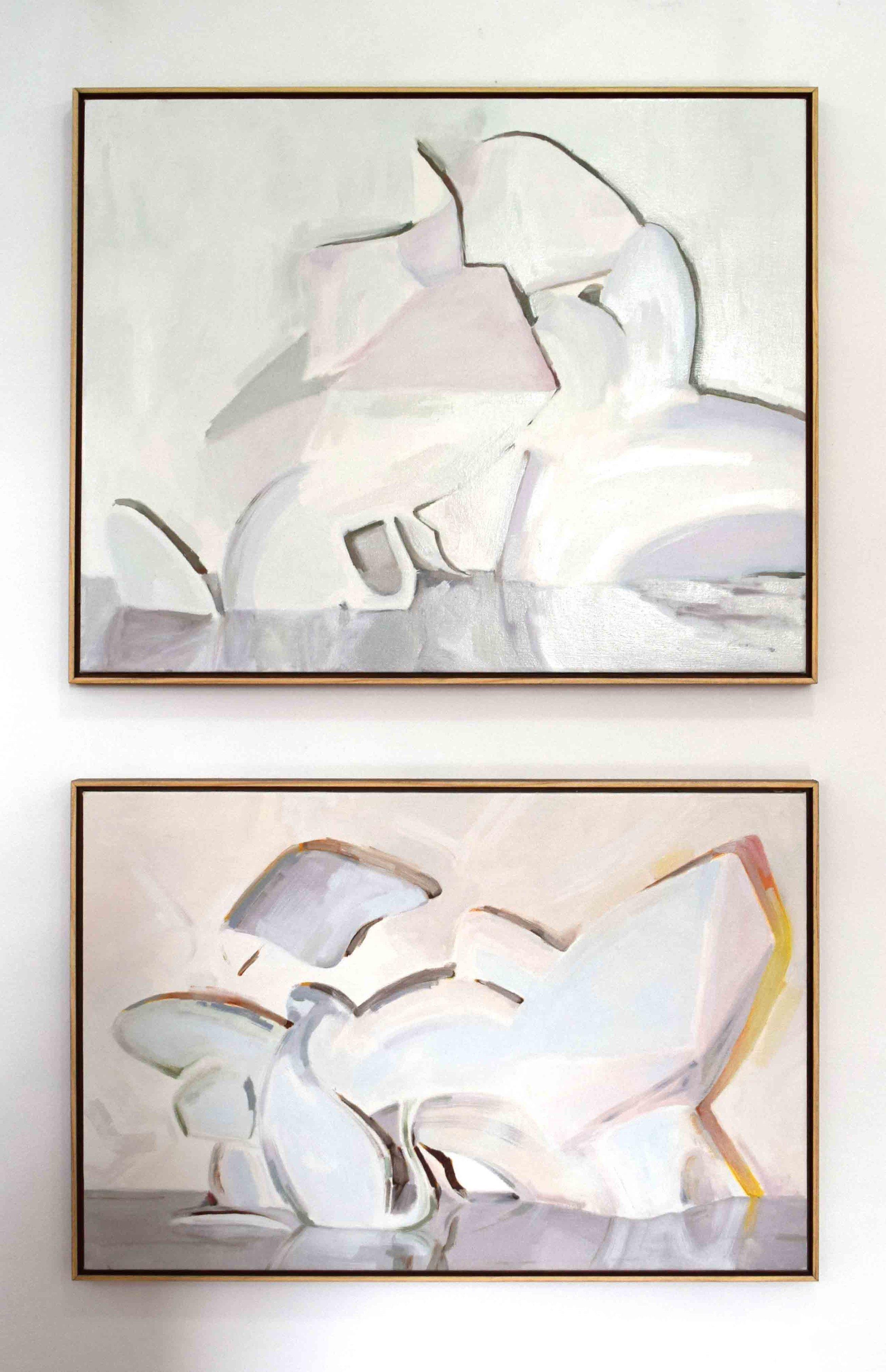 11. Ian Williams,  True Companions,  2018, oil on canvas, 61 x 76 cm $1,290  12. Ian Williams,  Illumine , 2018, oil on canvas, 50 x 76 cm $1,250