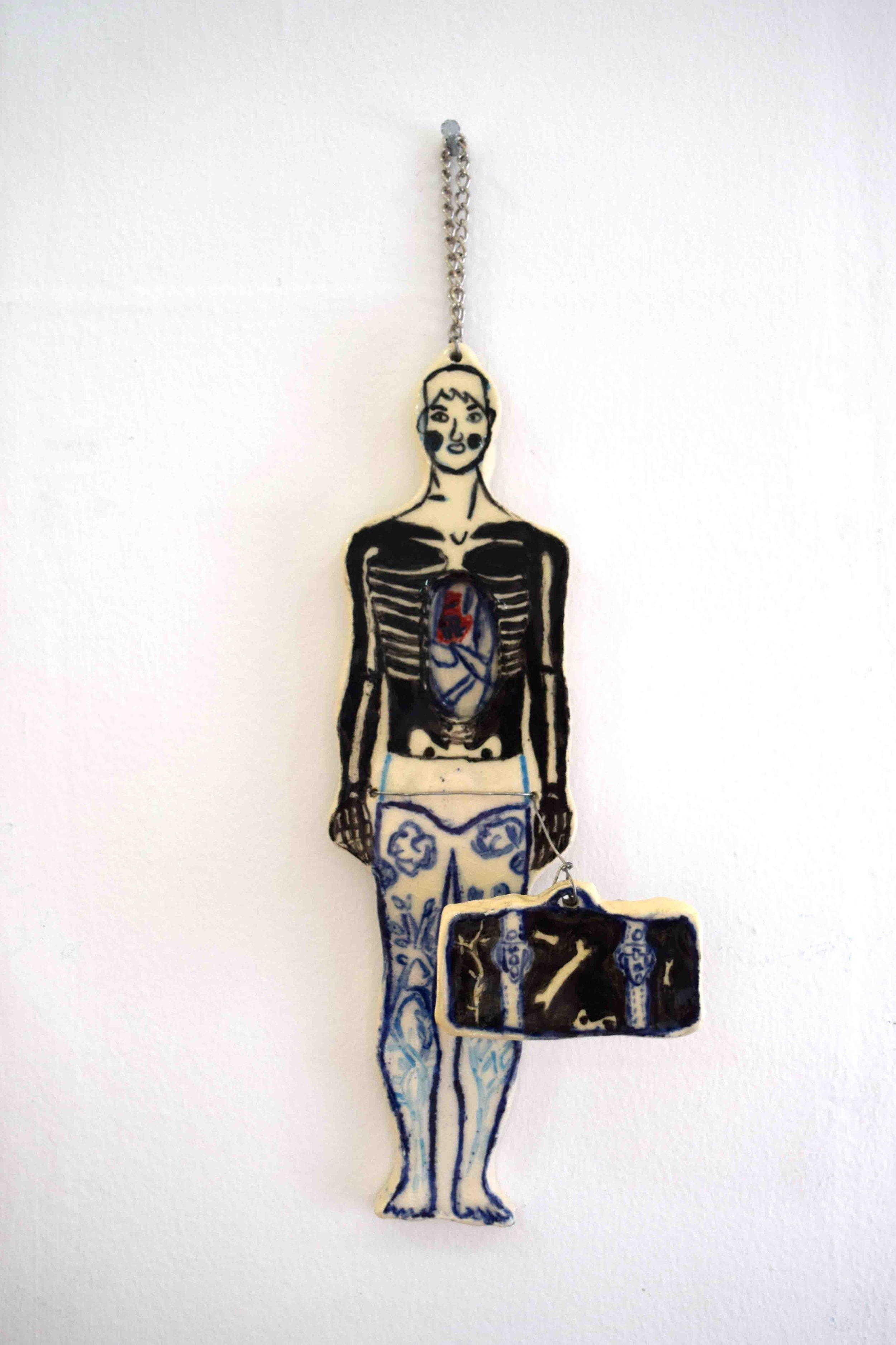 6. Lucas Rummer,  Insideout , ceramic, 25 x 7 cm NFS   RUNNER UP - SCULPTURE