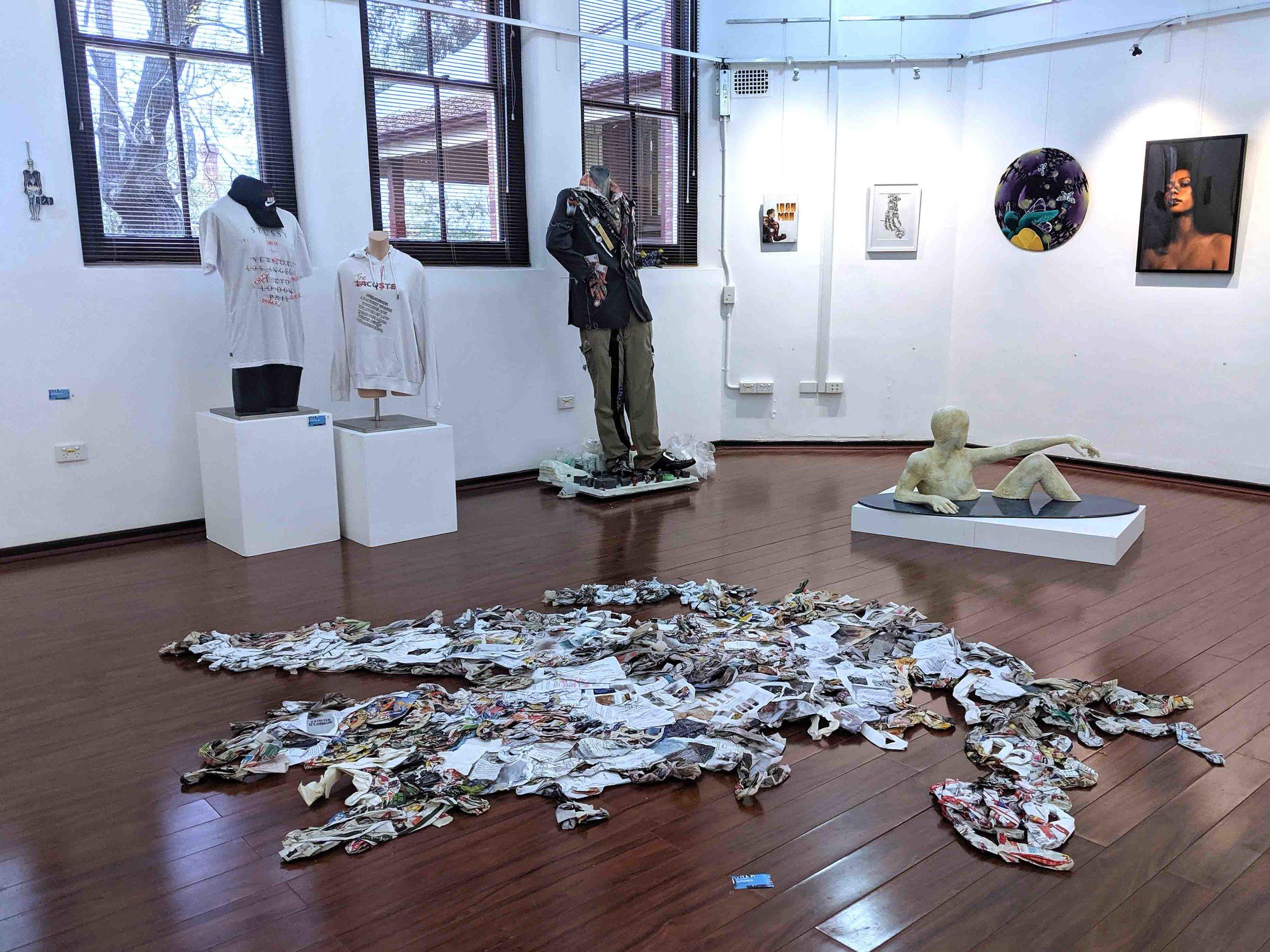 21. Megan Baker,  Tree Shadow,  recycled paper, masking tape, 255 x 200 cm NFS   WINNER - SCULPTURE