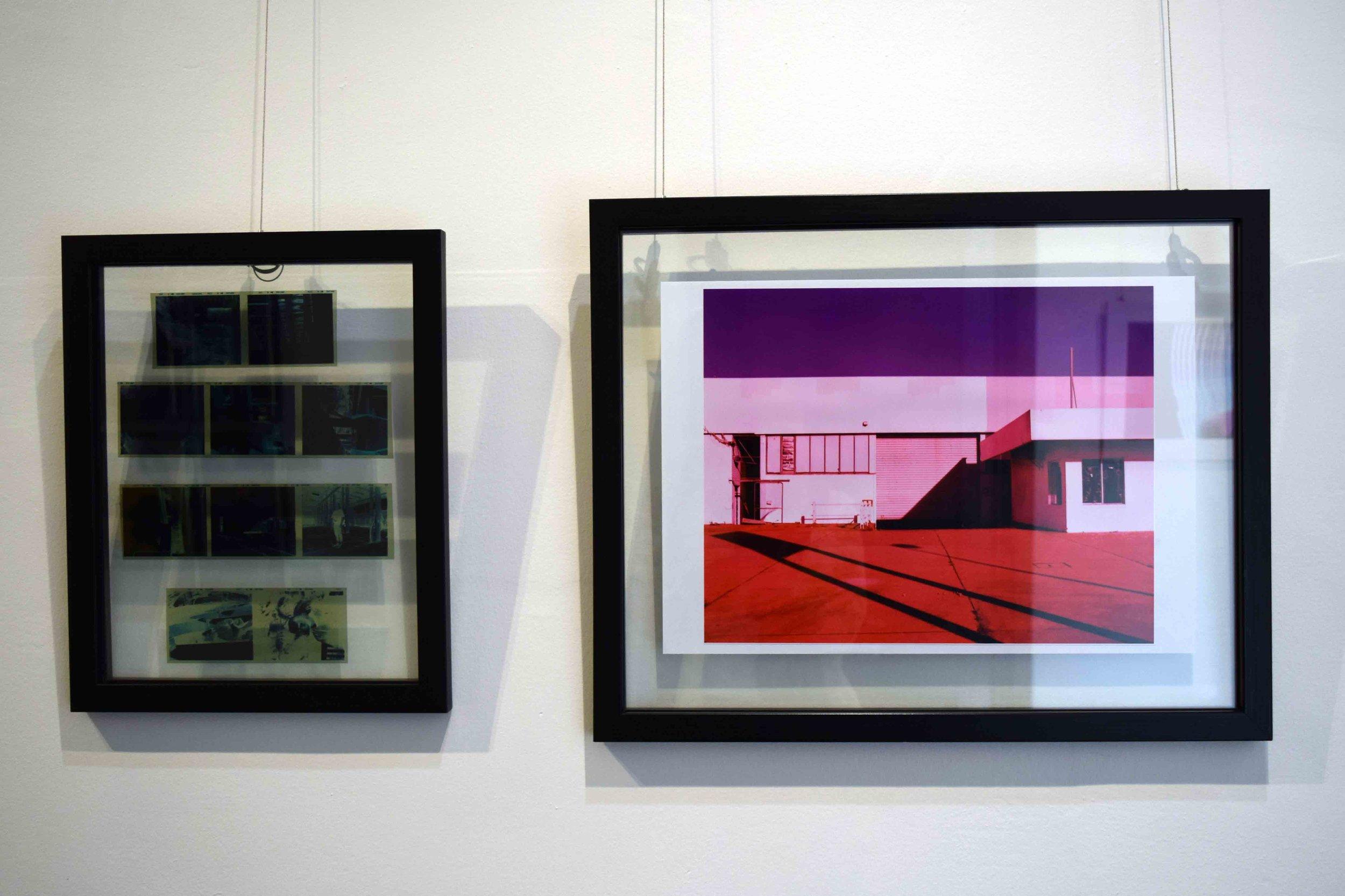 77. Levii Harrington,  Cross,  cross-processed anaalogue photograph and film negatives, 34 x 26 cm, 35 x 27.5 cm $95   RUNNER UP - PHOTOGRAPHY