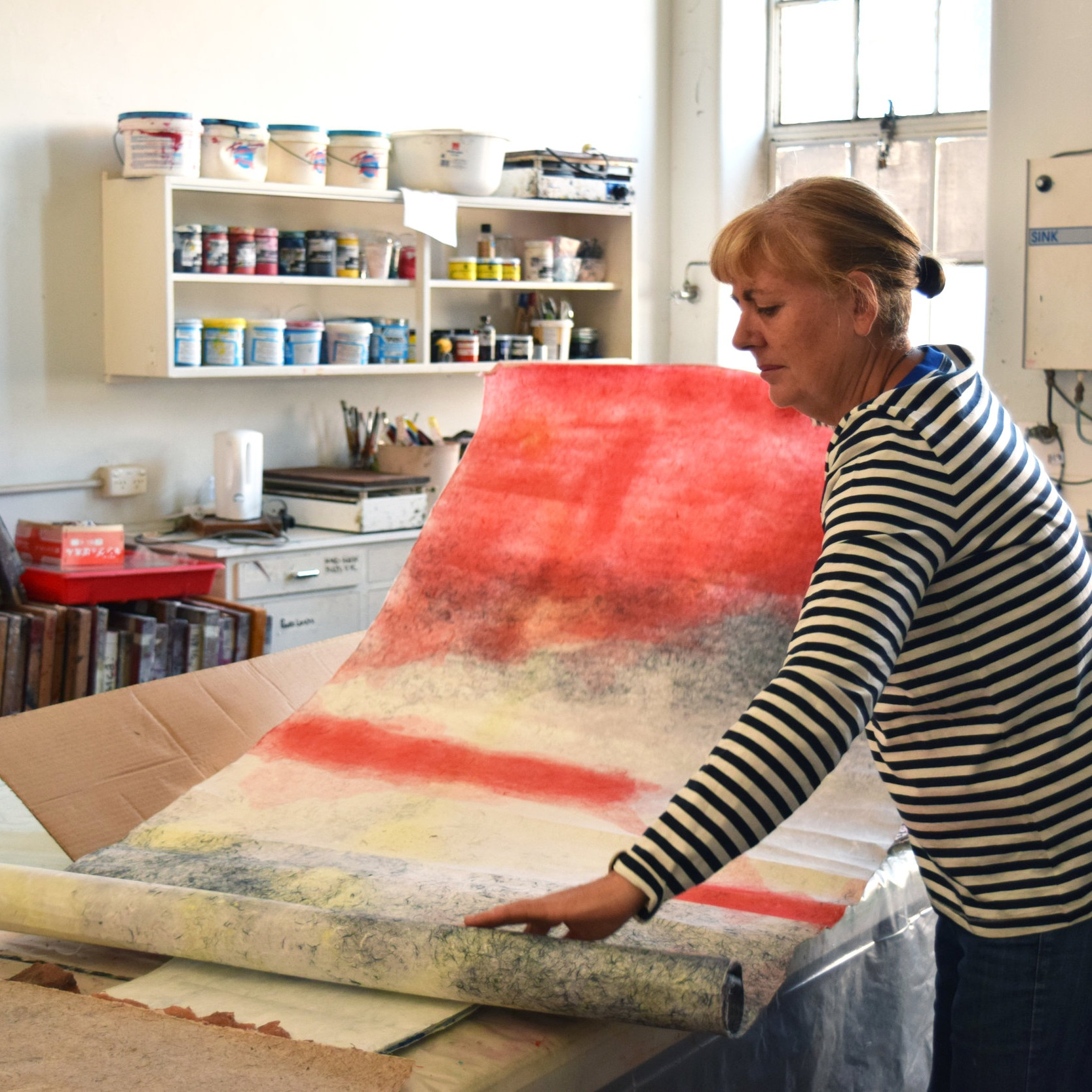 Papermaking - Learn to make paper by blending, beating and pressing with Ingrid Mulder of Crow Mountain Paper Studios. Ingrid will be using a range of plant fibres on the day especially invasive species. Having lived and worked at the Washi No Sato Paper making factory in Japan for over 12 years, Ingrid has a wealth of paper making expertise to share in WA.FREE