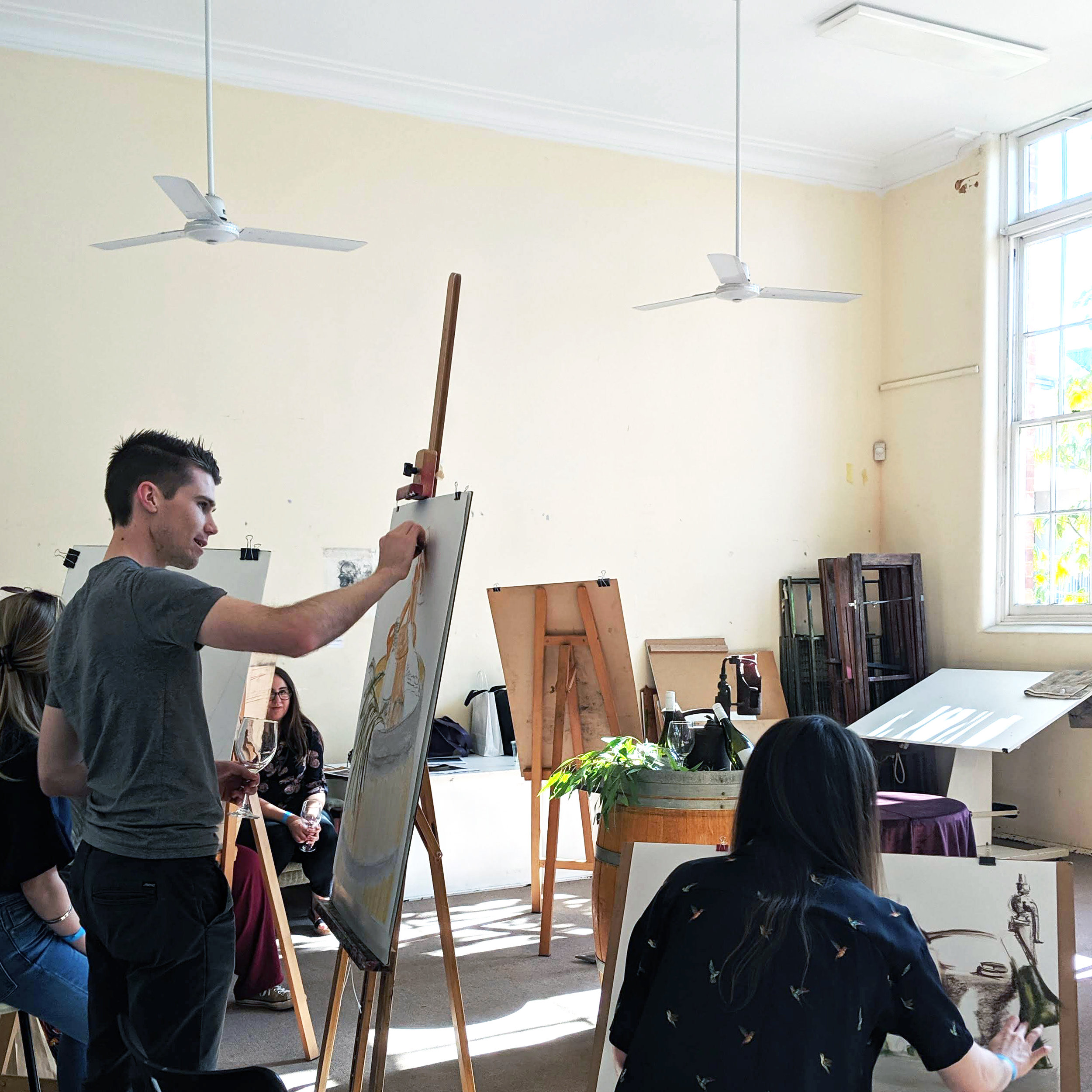 Still Life Drawing - Pick up an easel and have a go at drawing our floral still life arrangement. With materials such as paper, pastels, charcoal, and kneadable erasers provided, you're free to draw a blooming masterpiece.FREE