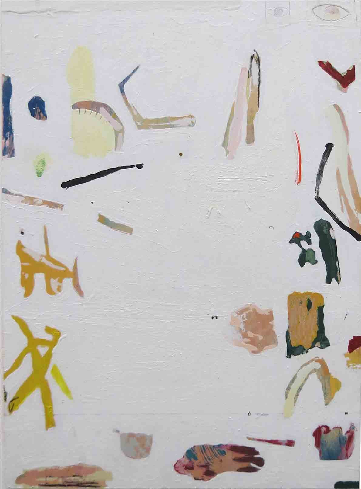 19. Stephen Brameld, A Deconstruction of WA Wildflowers, 2019, acrylic, oil, pencil and paper on board, 42 x 29.7 cm $100