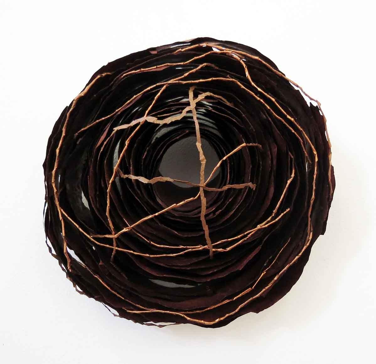 34. Monique Tippett, Sheoak, 2019, recycled paper, balga resin, copper, 30 x 30 x 14 cm $450