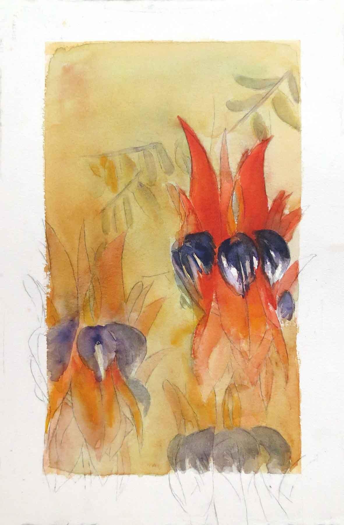 43. Deeva Muir, Marlukuru, 2019, watercolour on paper, 57 x 38 cm $325