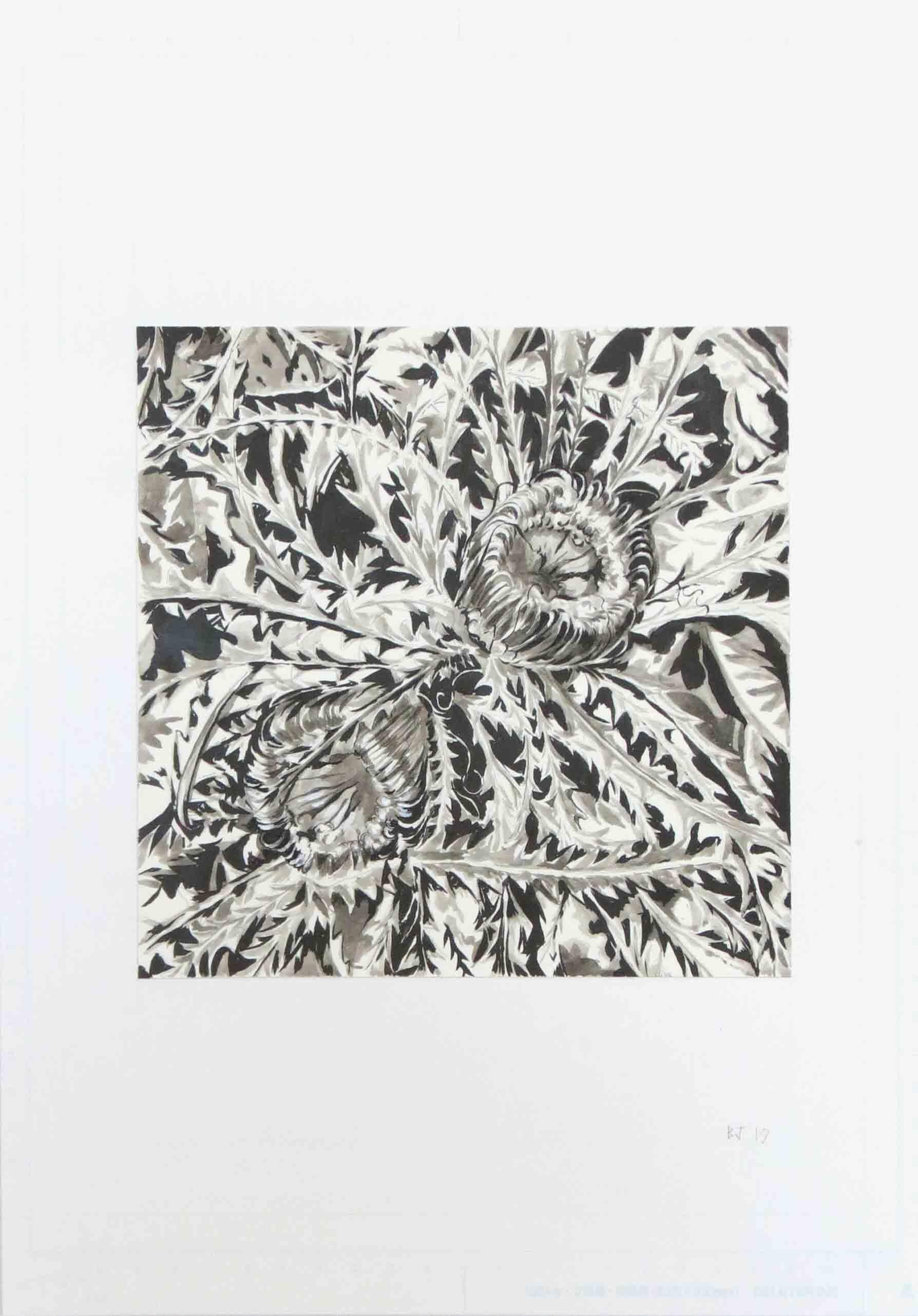 59. Ben Jones, On The Floor 2, 2019, ink on paper, 42 x 29.7 cm $280