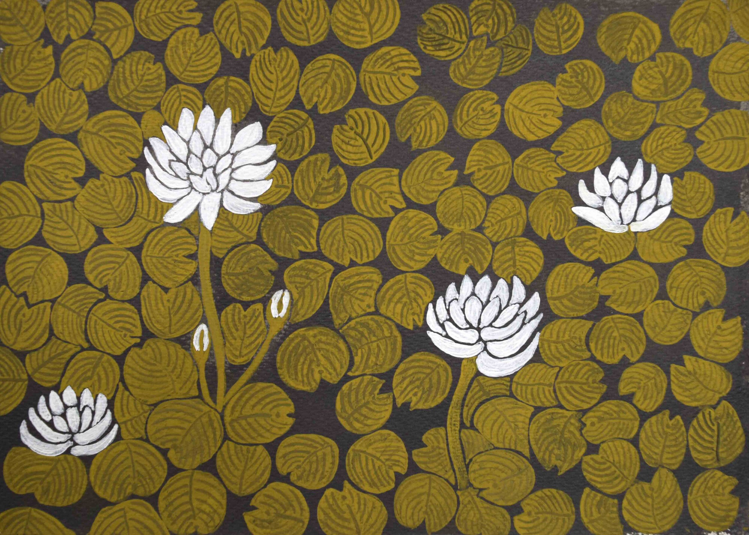 64. Jan Griffiths, Woorrilbem, 2019, natural pigment on paper, 30 x 42 cm $350