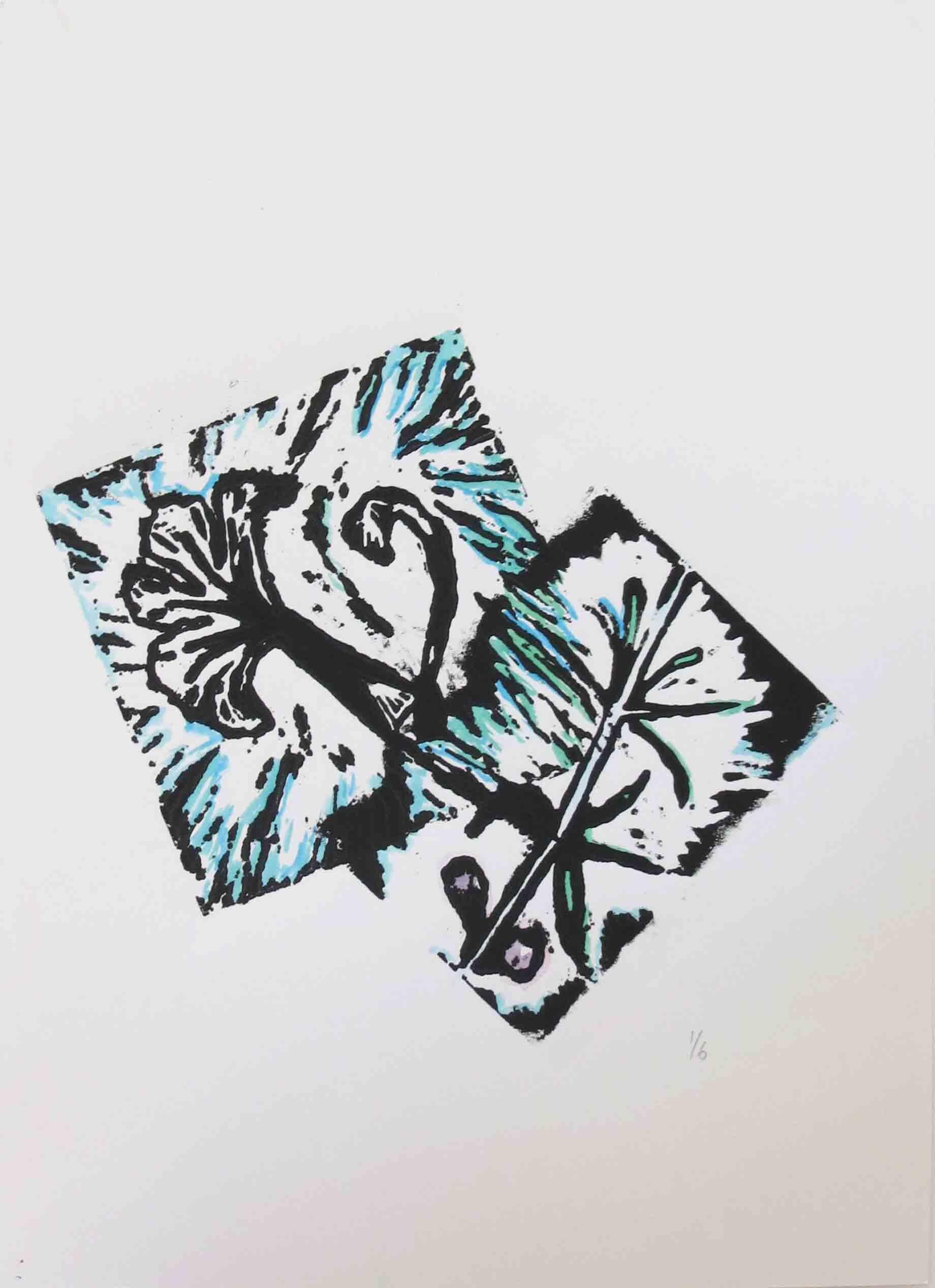 70. Kado Muir, Malkakutjal, 2019, linocut on paper, 42 x 30.5 cm $325