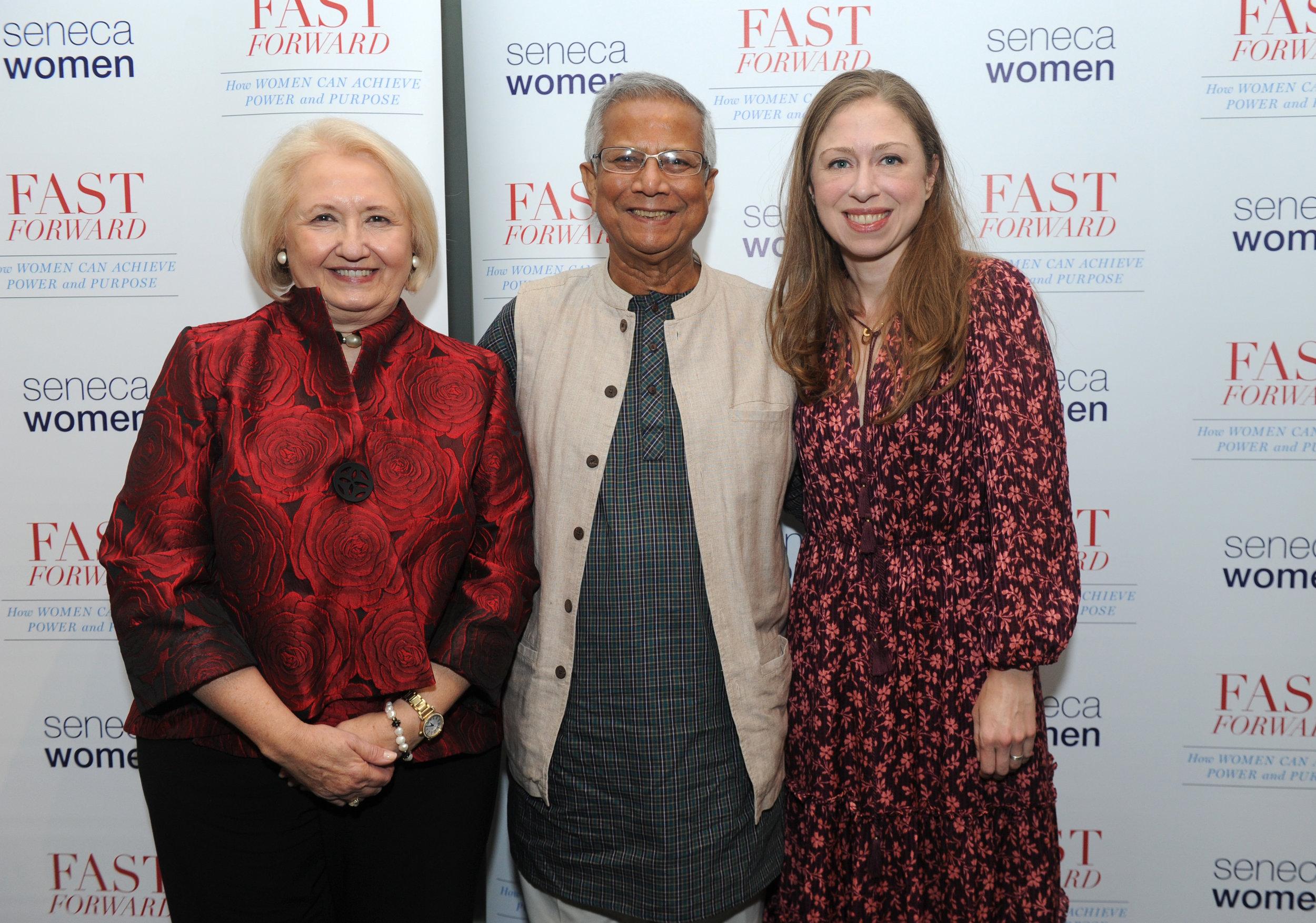 Melanne Verveer, Muhammad Yunus & Chelsea Clinton.jpg