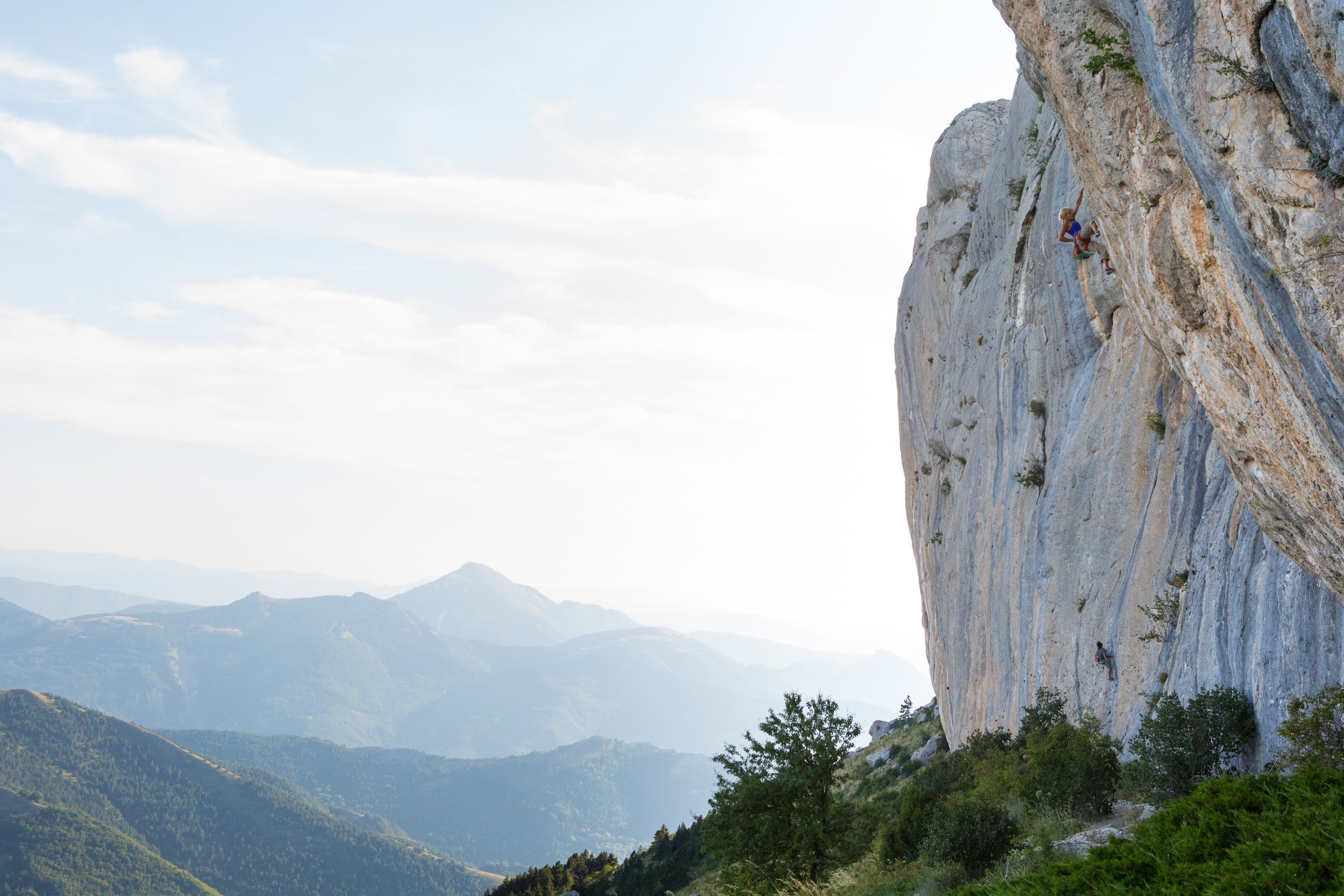 Climbing in Ceuse, France, 2015