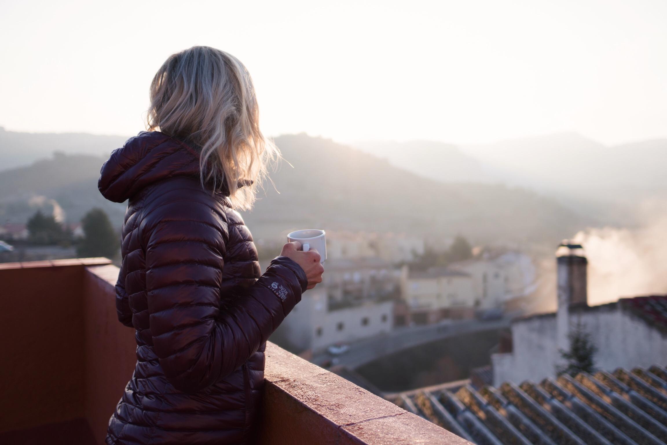 Morning coffee in Cornudella, Spain!