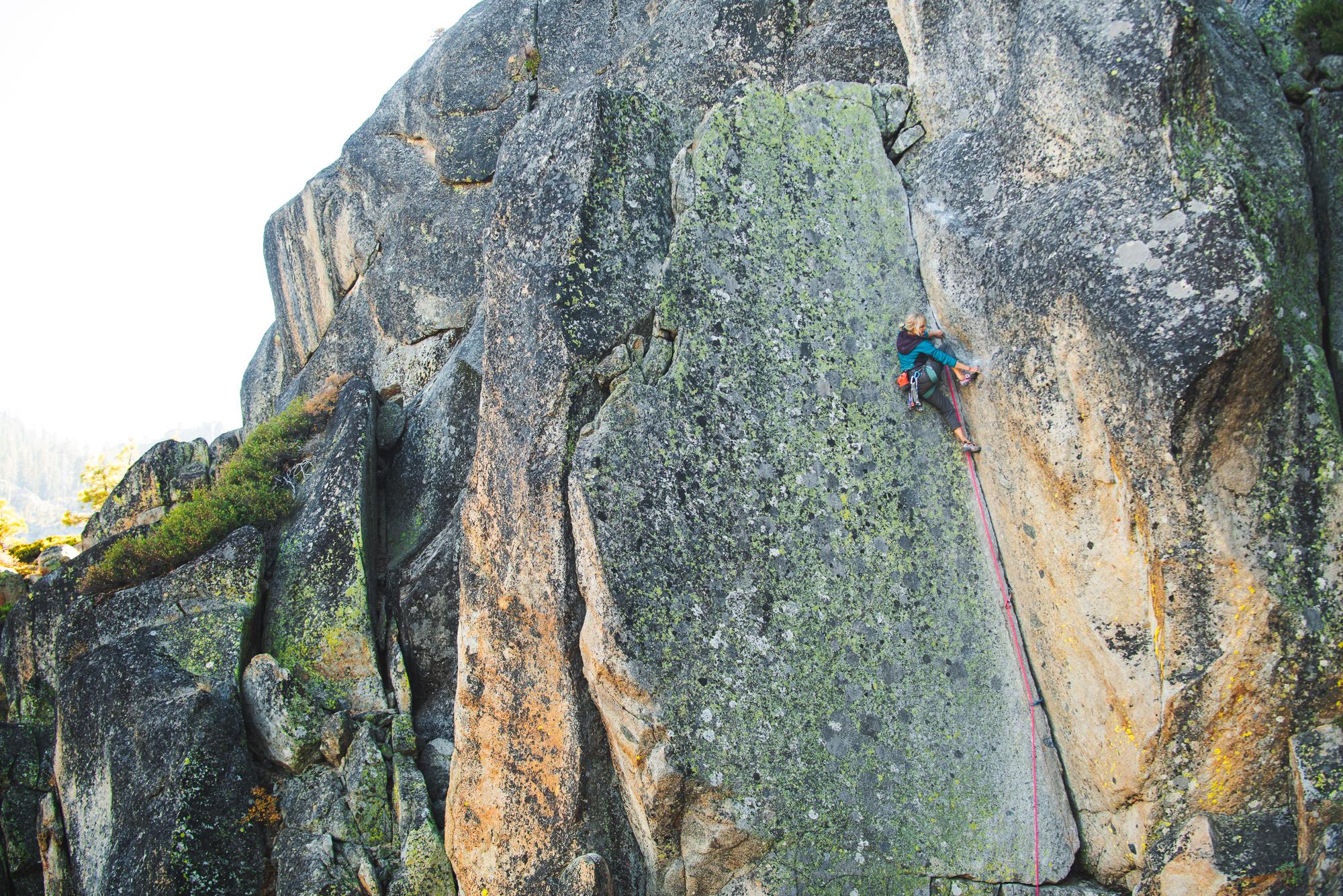 Traditional climbing in Lake Tahoe