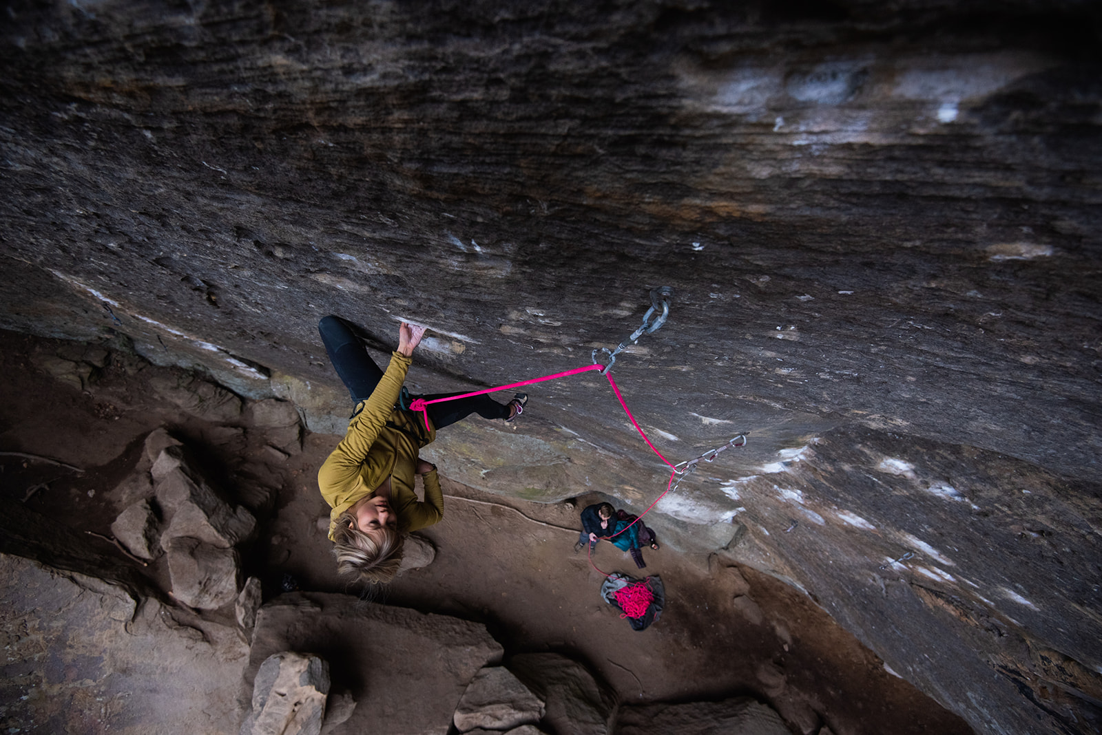 Lucifer, 5.14C in Red River Gorge. Picture by Andy Wickström 2018