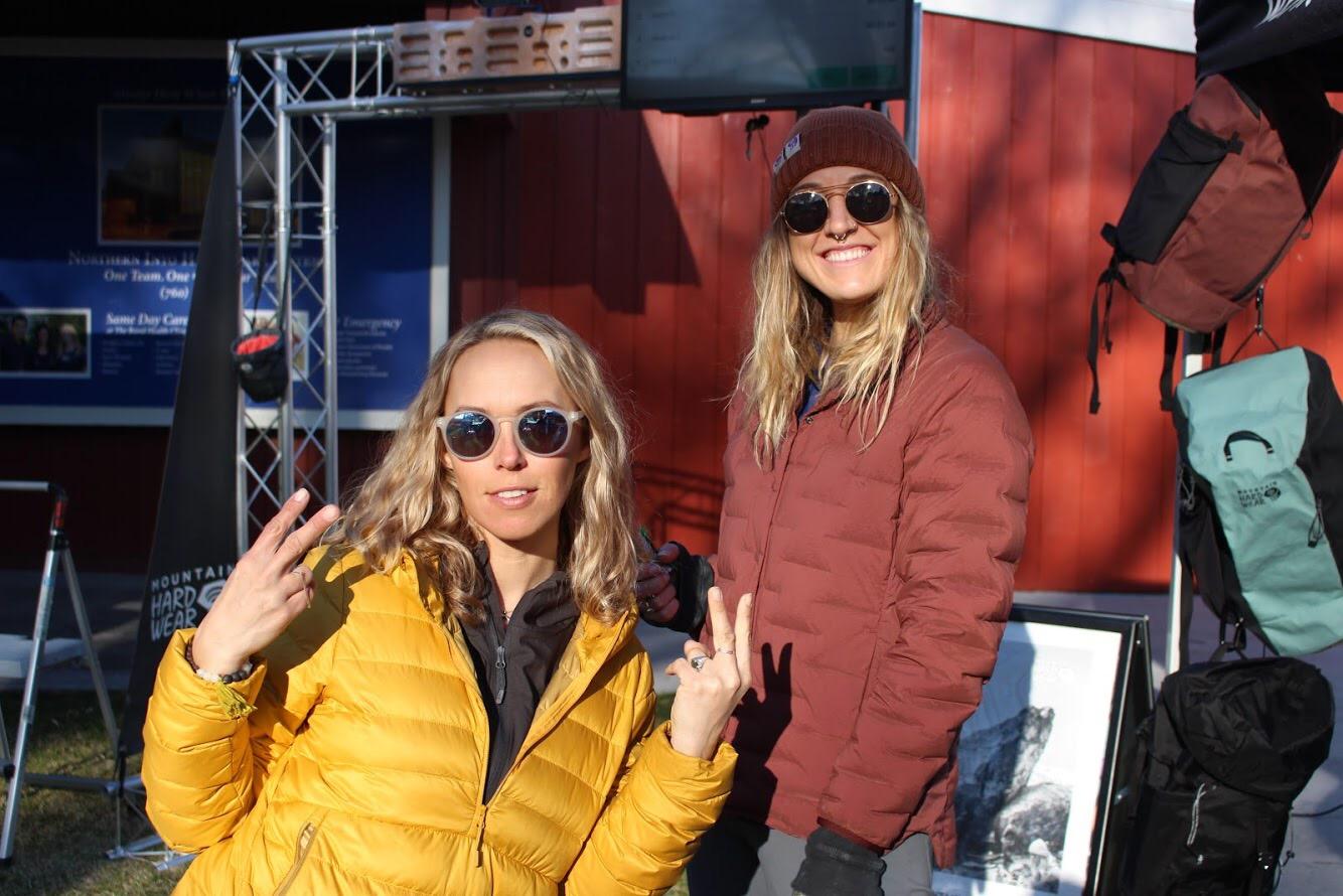 Lina and Miranda from Mountain Hardwear