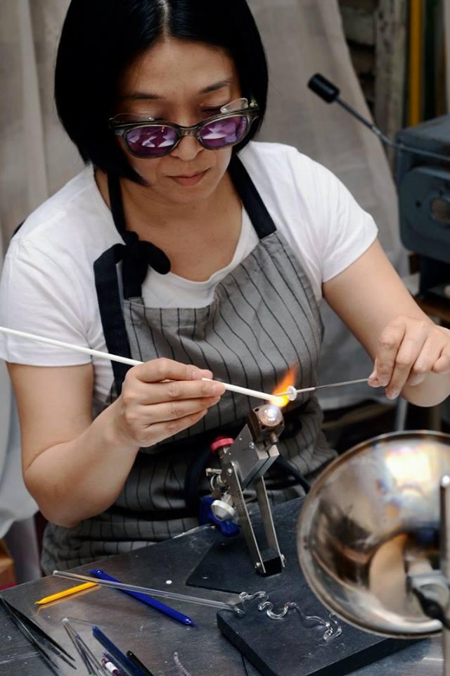 michi suzuki - Verre au chalumeau