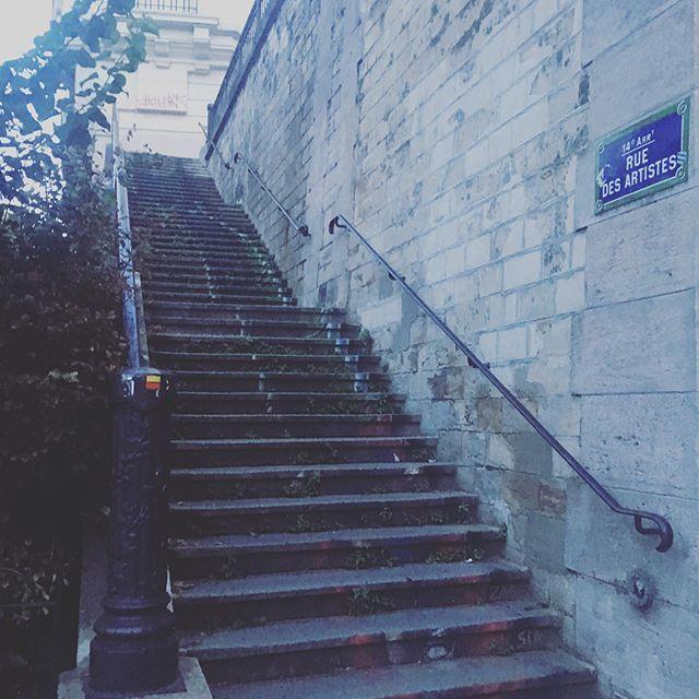 La rue des artistes du 14ème 💙 #paris #paris14 #art #artiste #artistinparis #artinparis