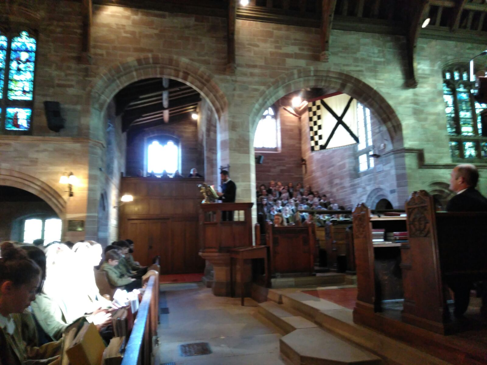 … and action… Ben at the pulpit preaching the gospel of the #Plasticrevolution