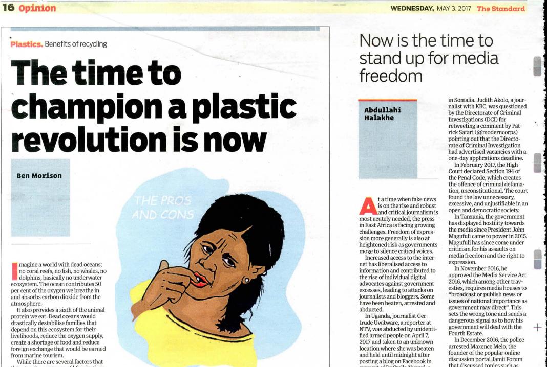 plastic revolution on standard newspaper.jpg
