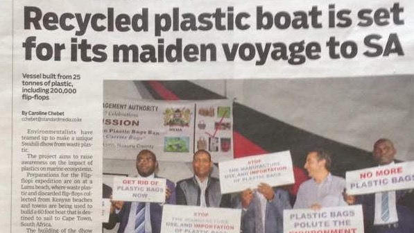 recycled plastic boat