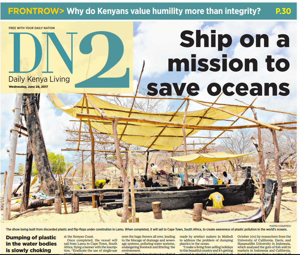 ship on a mission to save oceans