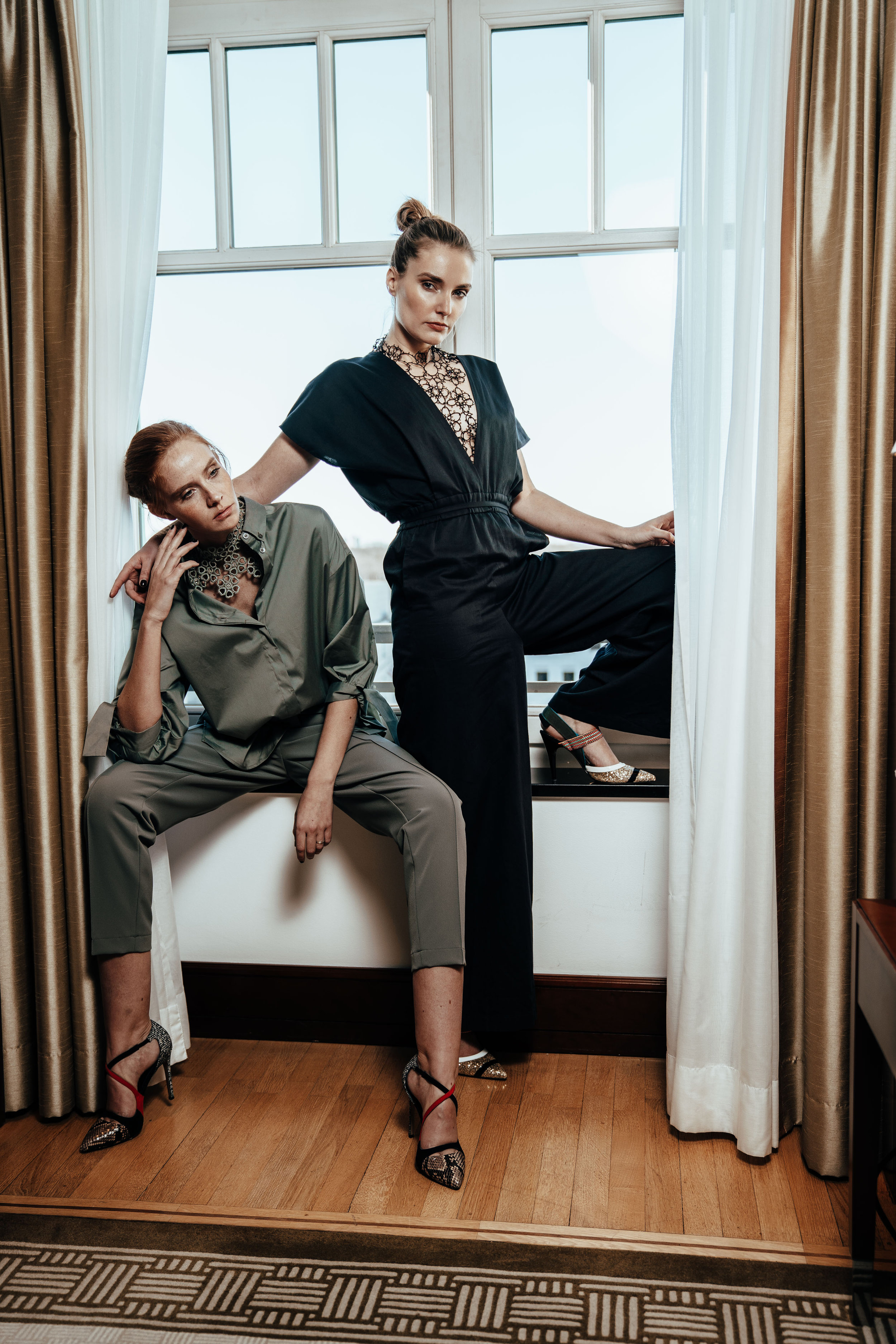 Marie & Sandra - Styling Fashion ShootingPhoto by Daniel GrafHair & Makeup by Coiffeur Sergio for Labiostetiqueparis