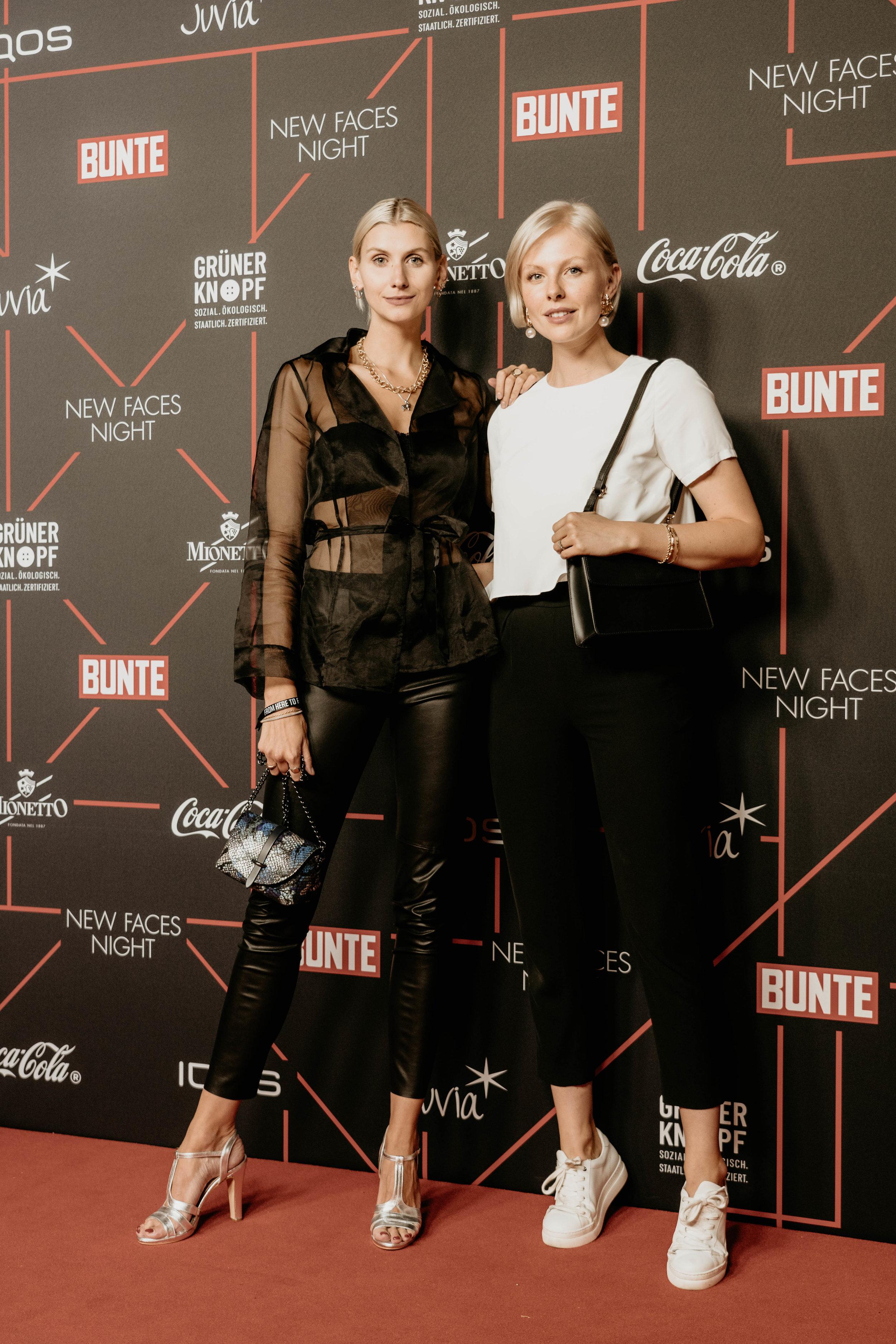 Kimyana & Carolin - Styling & Management für die BUNTE New Faces Night anlässlich der Fashionweek Berlin