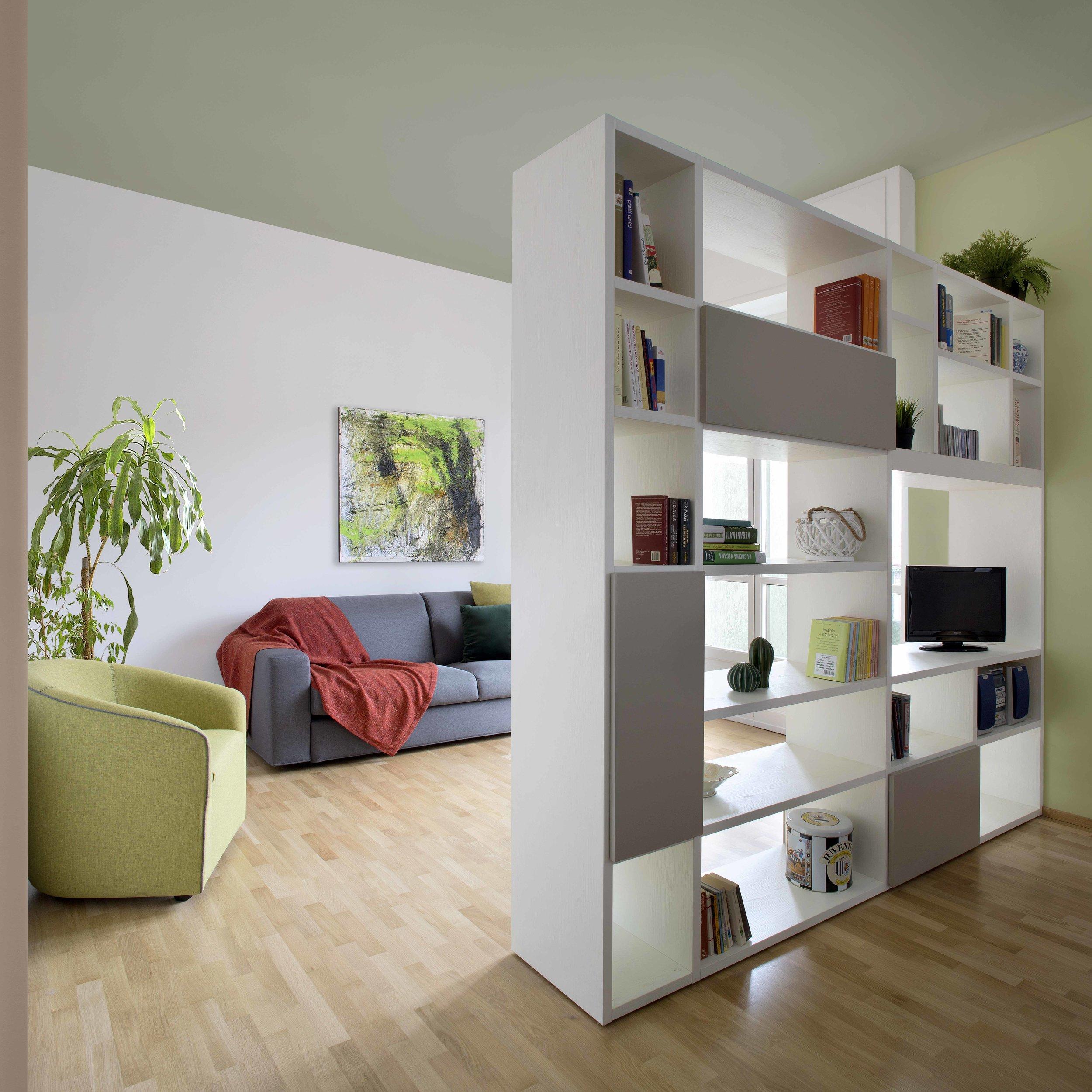 Salotto verde libreria aperta