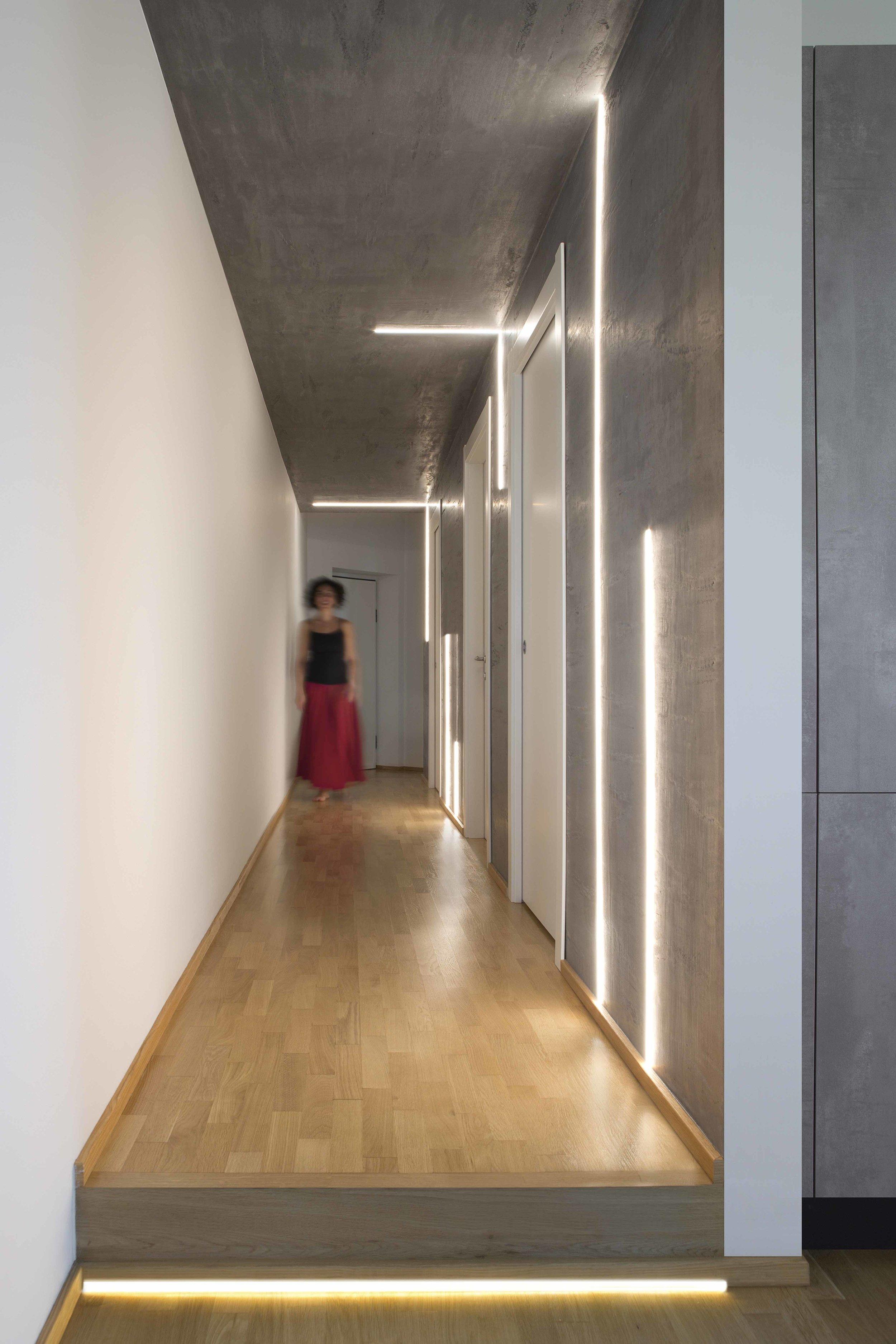 Planbuy-corridoio linee di luce