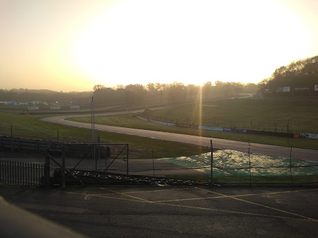 We were met by a cold, atmospheric, but fortunately dry Brands Hatch circuit.