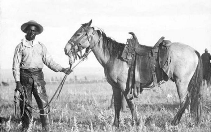 Source: A black cowboy, ca, 1890. Western History/Genealogy Dept., Denver Public Library , neg #: X-21563