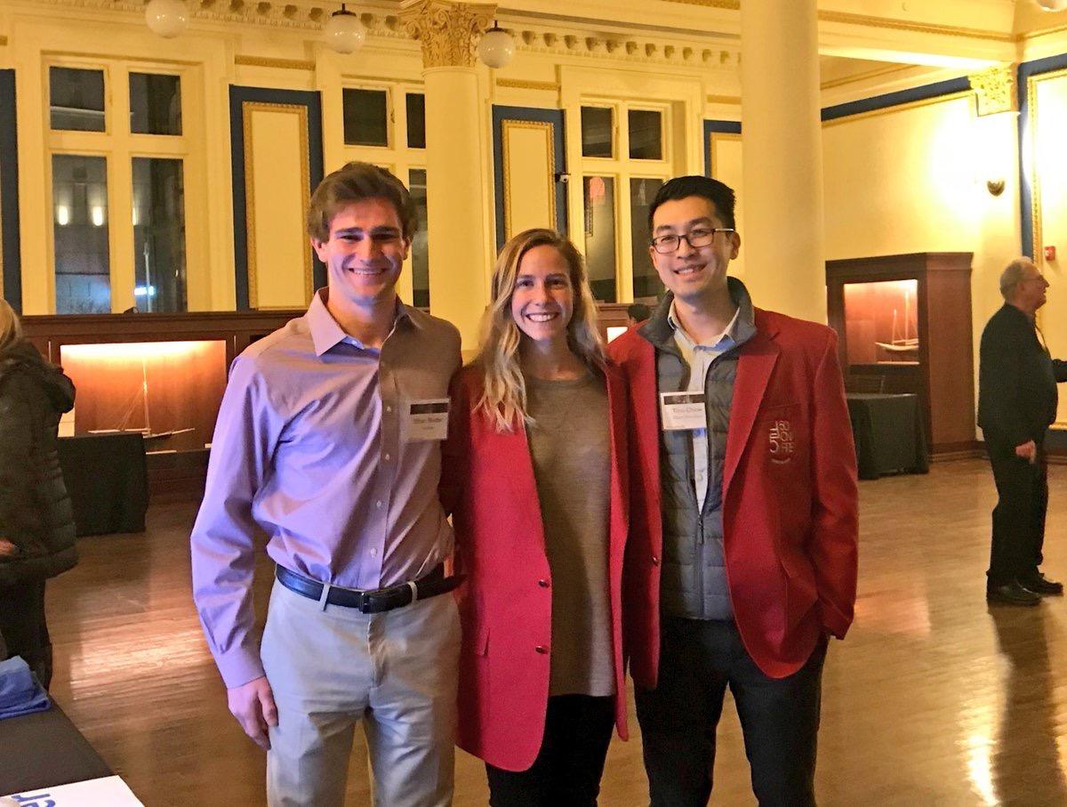 Ethan Binder from  GoPeer , Crystal Rosatti from fellow Inno Blazer winner  Social Enterprise Green House