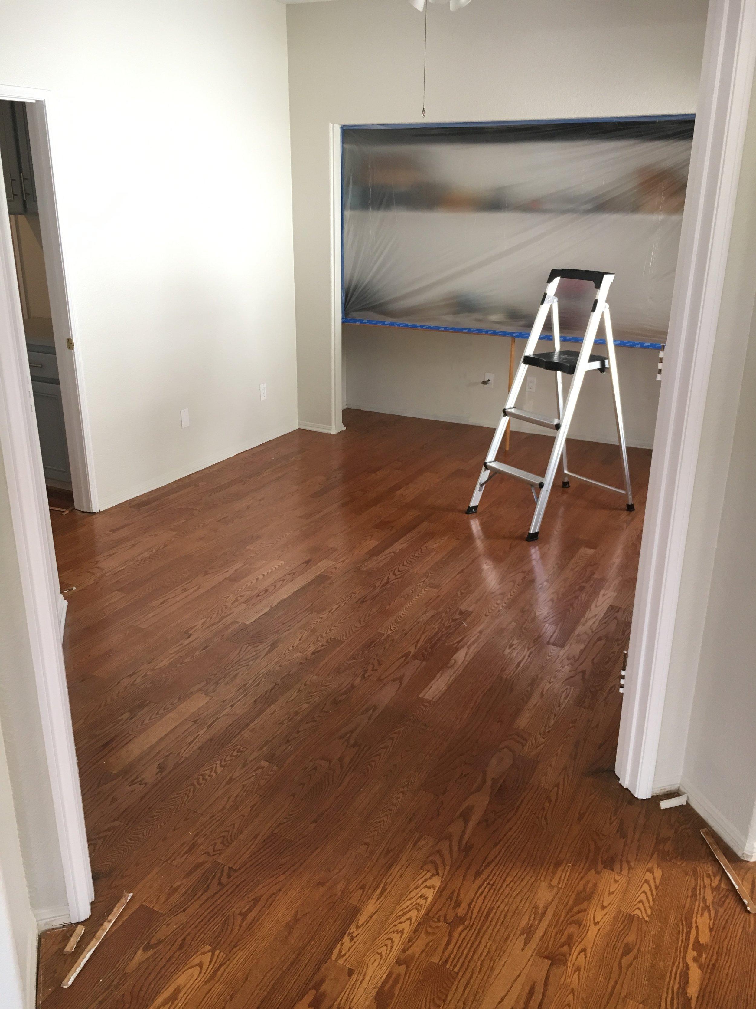 Refinishing Woodchuck Flooring San Diego